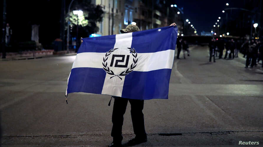 Golden Dawn, known for its militaristic rallies featuring flaming torches and Nazi salutes, saw its support in Sunday's election tumble to 2.9 percent.