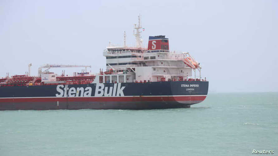 Stena Impero, a British-flagged vessel owned by Stena Bulk, is seen at Bander Abass port