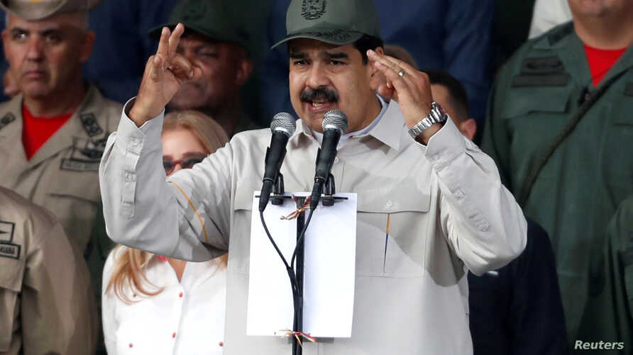 FILE PHOTO: Venezuela's President Nicolas Maduro speaks in Caracas