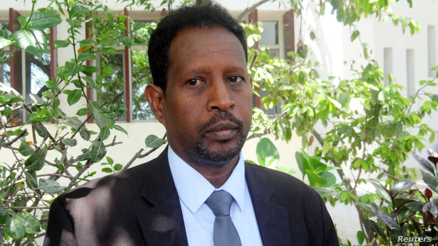 Mogadishu Mayor Abdirahman Omar Osman is seen at an event in Mogadishu