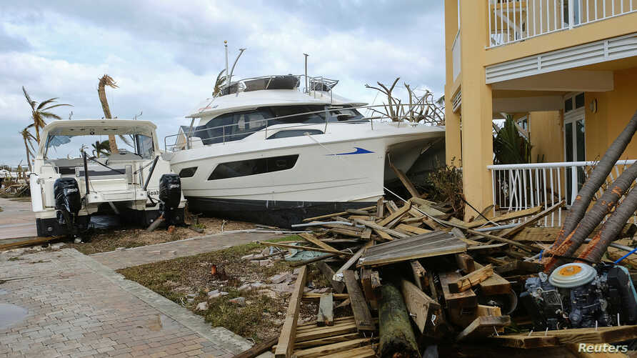 Damage in the aftermath of Hurricane Dorian on the Great Abaco island town of Marsh Harbour, Bahamas, September 4, 2019. REUTERS/Dante Carrer