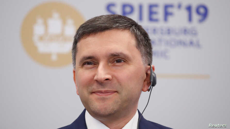 Russian Minister of Natural Resources and Environment Dmitry Kobylkin attends a session of the St. Petersburg International Economic Forum (SPIEF), Russia June 6, 2019. REUTERS/Maxim Shemetov