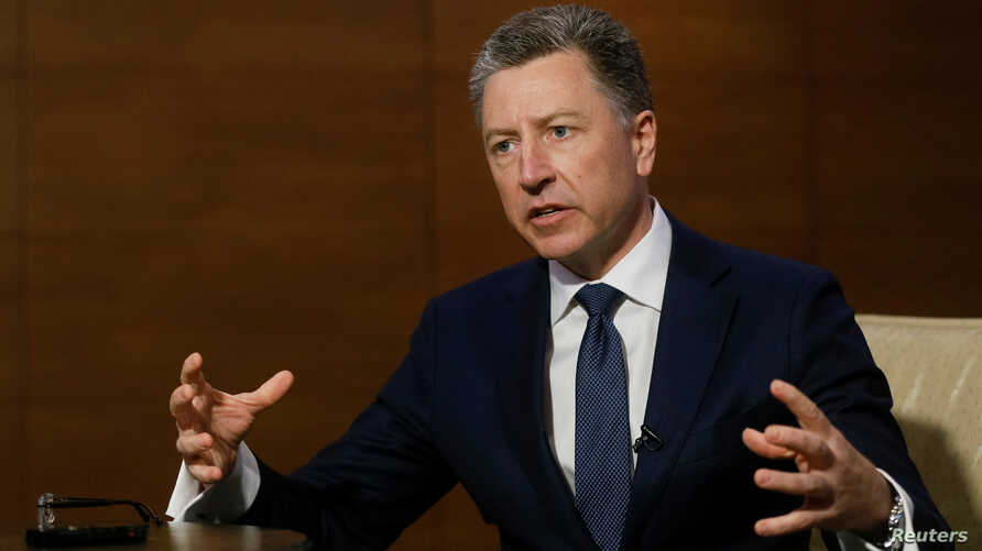 Kurt Volker, United States Special Representative for Ukraine Negotiations, speaks during an interview with Reuters in Kiev, Ukraine October 28, 2017. REUTERS/Valentyn Ogirenko