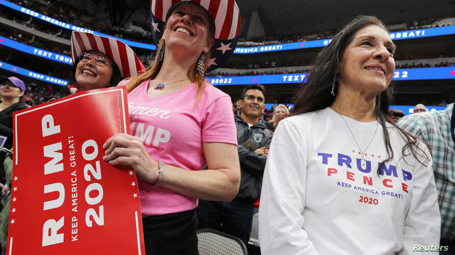 U.S. President Donald Trump rallies with supporters in Dallas, Texas, U.S. October 17, 2019. REUTERS/Jonathan Ernst