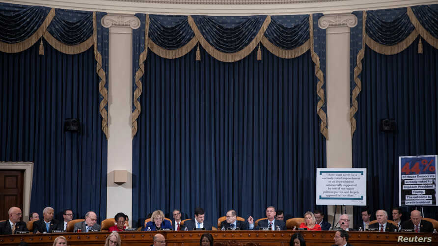 House Judiciary Committee ranking member Doug Collins delivers remarks during the House Judiciary Committee's markup of…