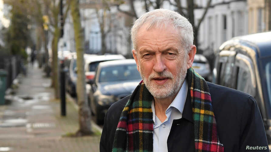 Britain's Labour Party leader Jeremy Corbyn is seen near his home in London, Britain, December 14, 2019. REUTERS/Toby Melville