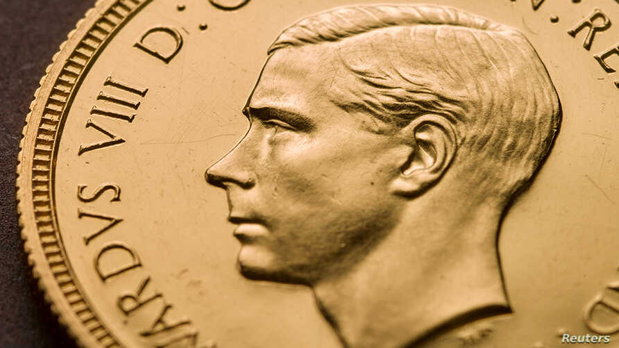 A rare Edward VIII sovereign coin is pictured at the Royal Mint in Llantrisant, Wales, Britain in December, 2019, in this image…