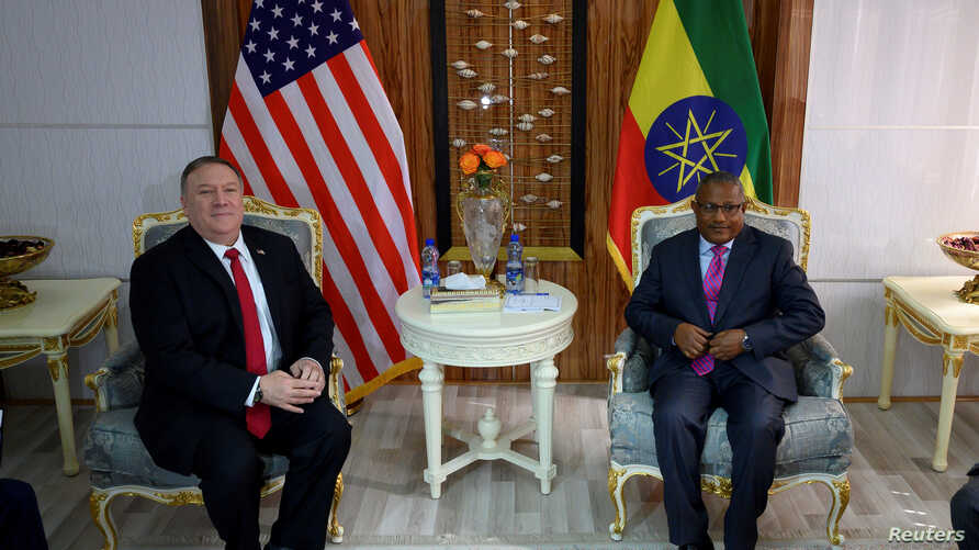 U.S. Secretary of State Mike Pompeo meets with Ethiopian Minister of Foreign Affairs Gedu Andargachew at the Foreign Ministry…