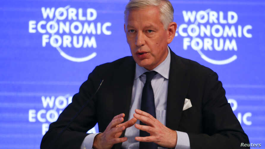 Dominic Barton, Global Managing Partner, McKinsey & Company, attends the annual meeting of the World Economic Forum (WEF) in…