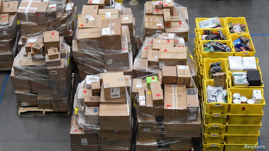 Products in the prep area are seen at the Amazon fulfilment center in Baltimore, Maryland, U.S., April 30, 2019. REUTERS…