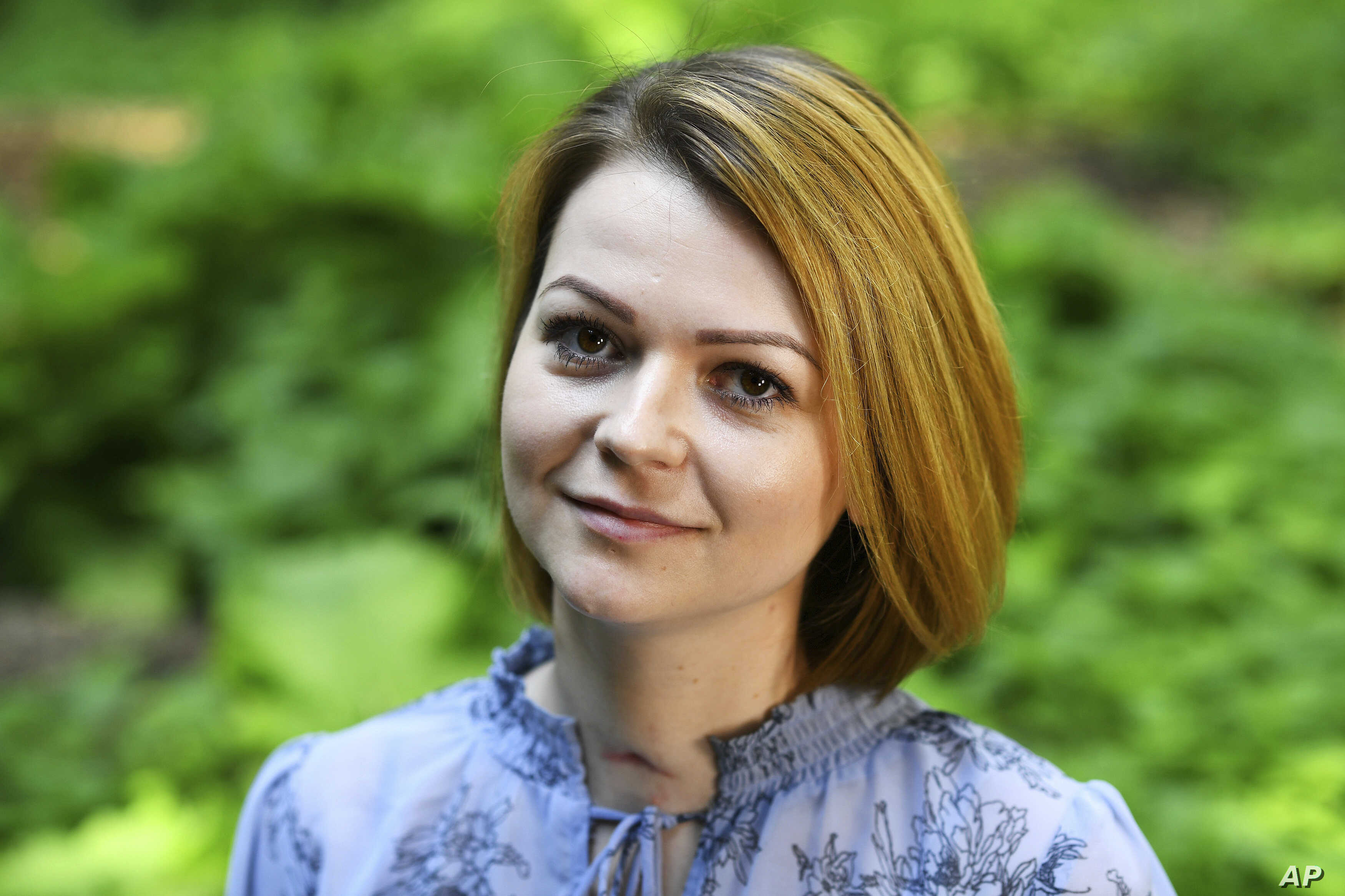 Yulia Skripal poses for the media during an interview in n London, May 23, 2018.