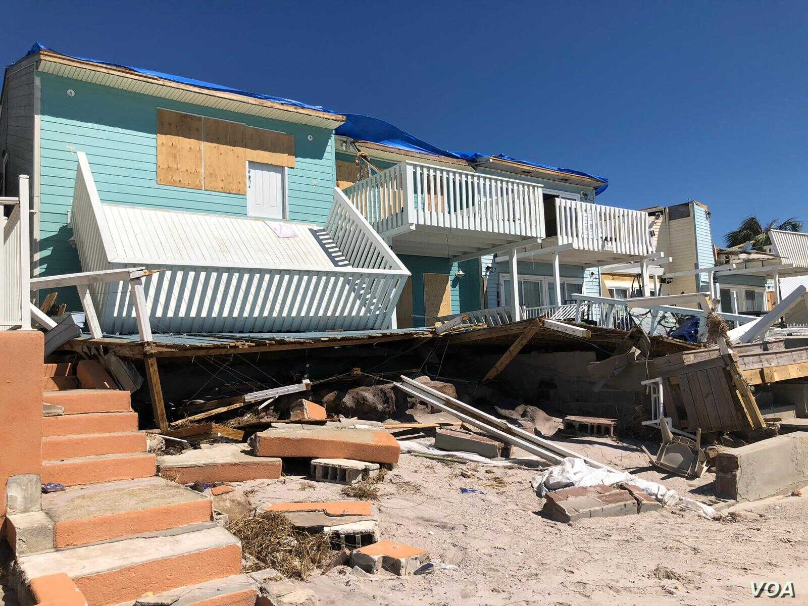 Scenes of devastation in Mexico Beach, Florida in the aftermath for Hurricane Michael. (Jose Pernalete and Jorge Agobián)