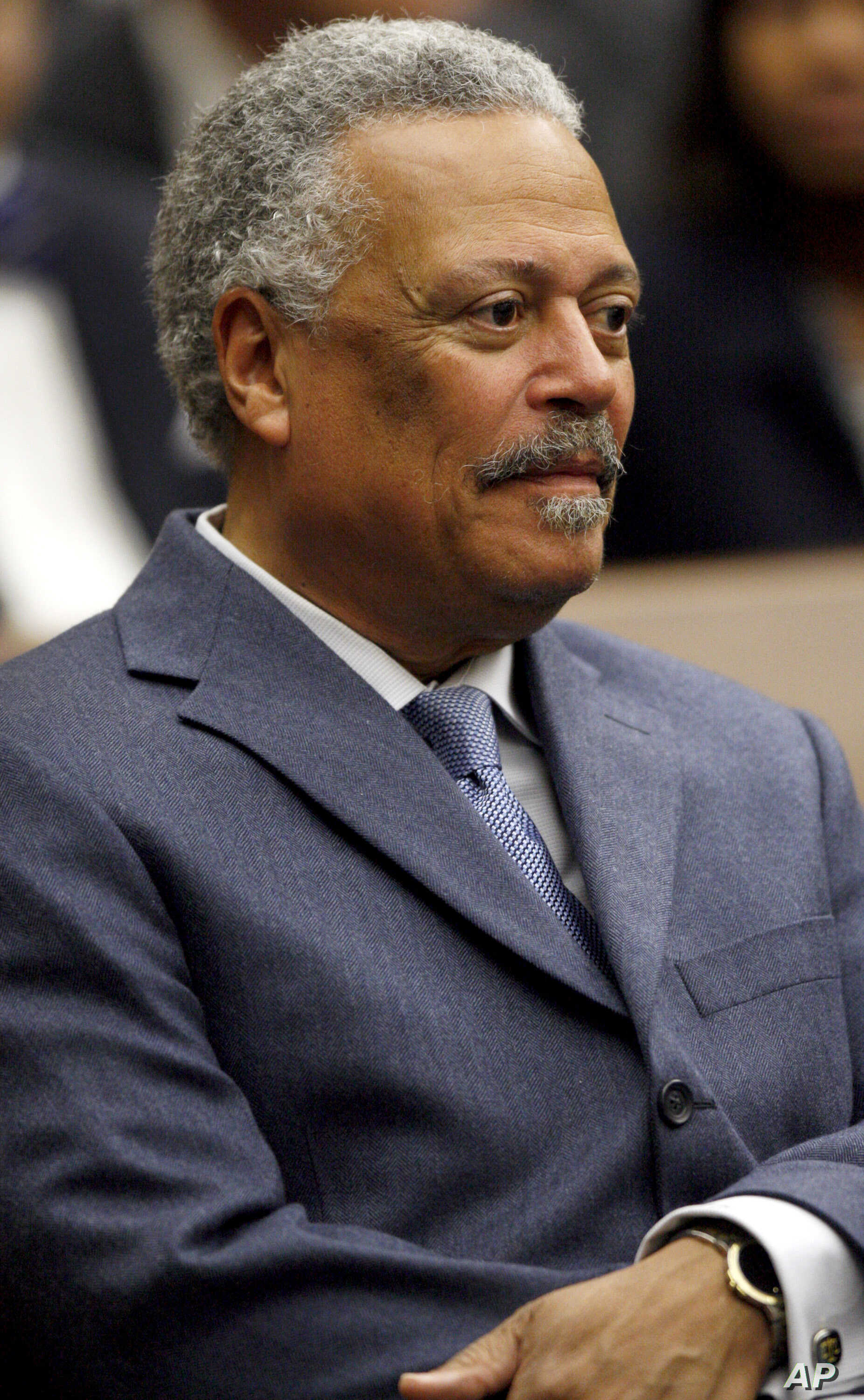 FILE - U.S. District Judge Emmet G. Sullivan is pictured during a ceremony at the federal courthouse in Washington, May 1, 2008.