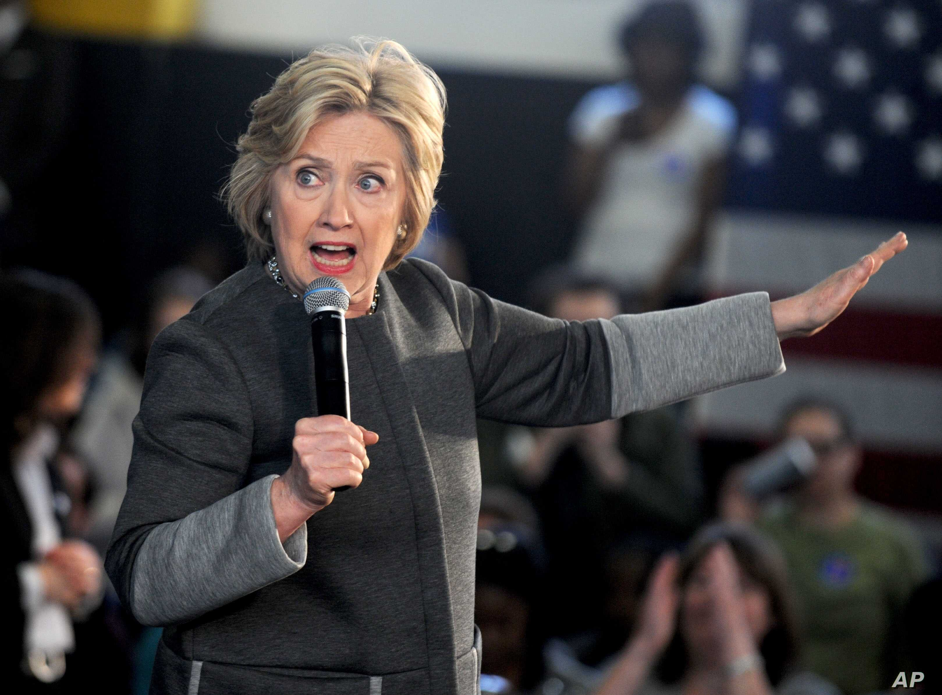 Democartic presidential candidate Hillary Clinton speaks during a campaign event April 5, 2016, in New York City.