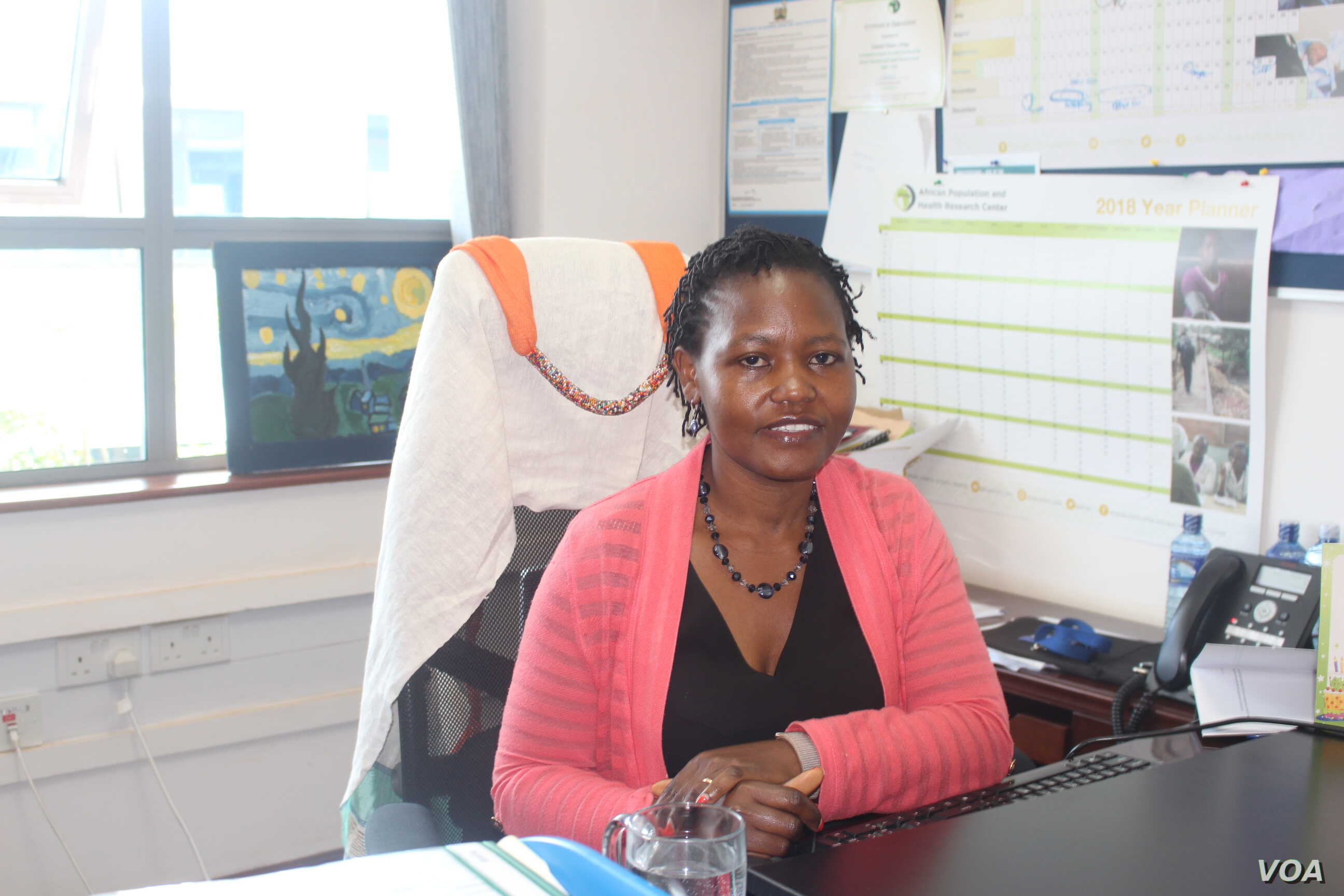Dr. Elizabeth Kimani Murage, head of maternal and child well-being at the African Population and Health Research Center. (R. Ombuor/VOA)