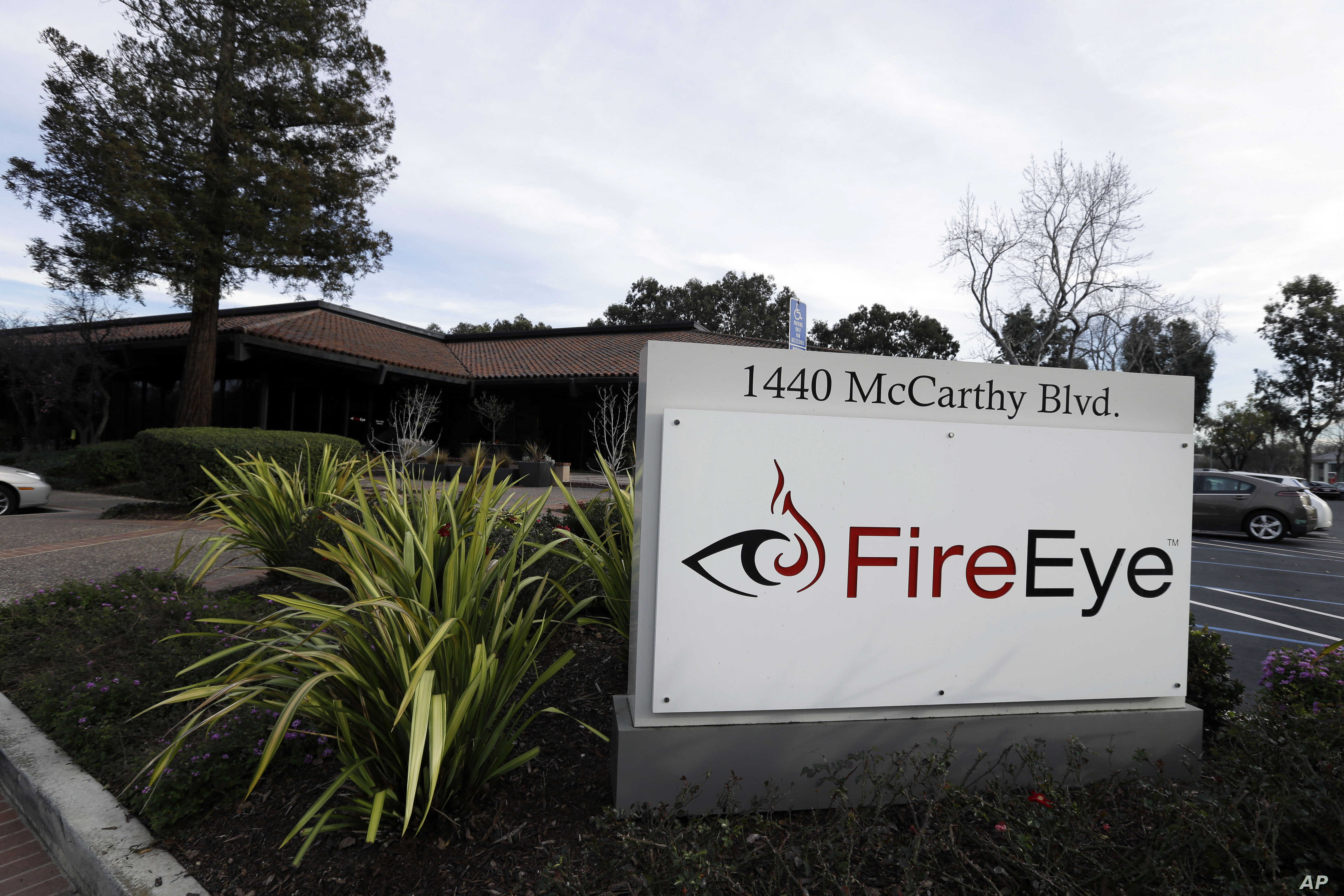 FIRE - FireEye offices are pictured in Milpitas, Calif., Feb. 11, 2015.
