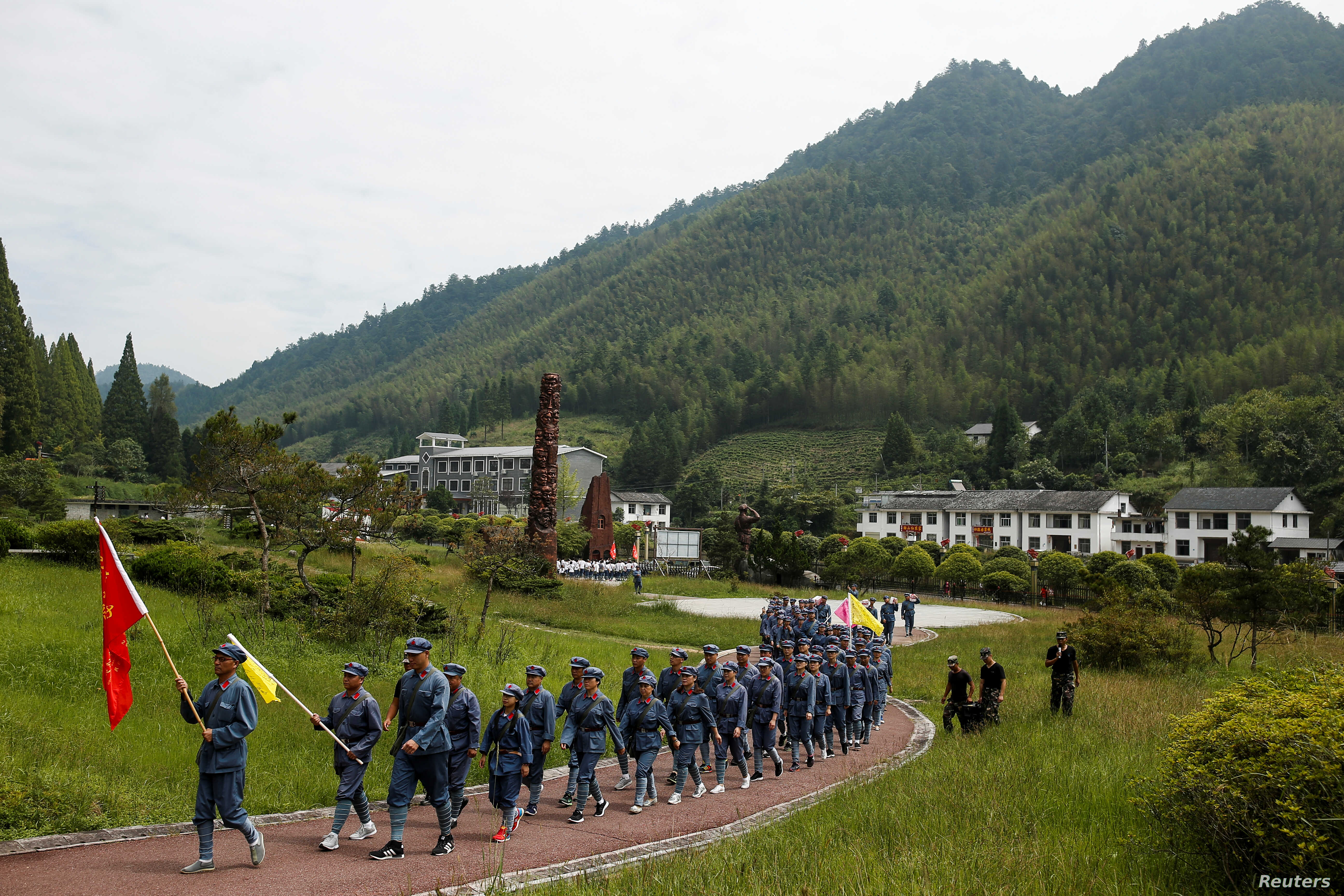 Ideological Boot Camp Lets Participants Relive China's Long March