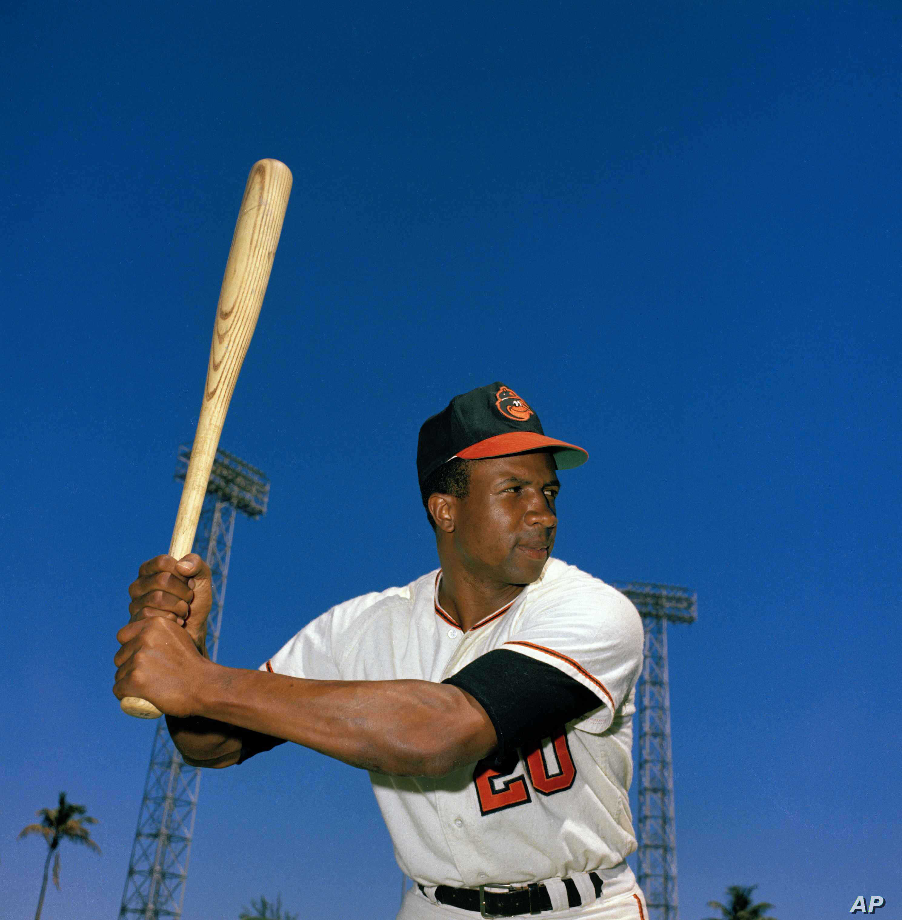 Outfielder Frank Robinson of the Baltimore Orioles is poses for photo in 1967.
