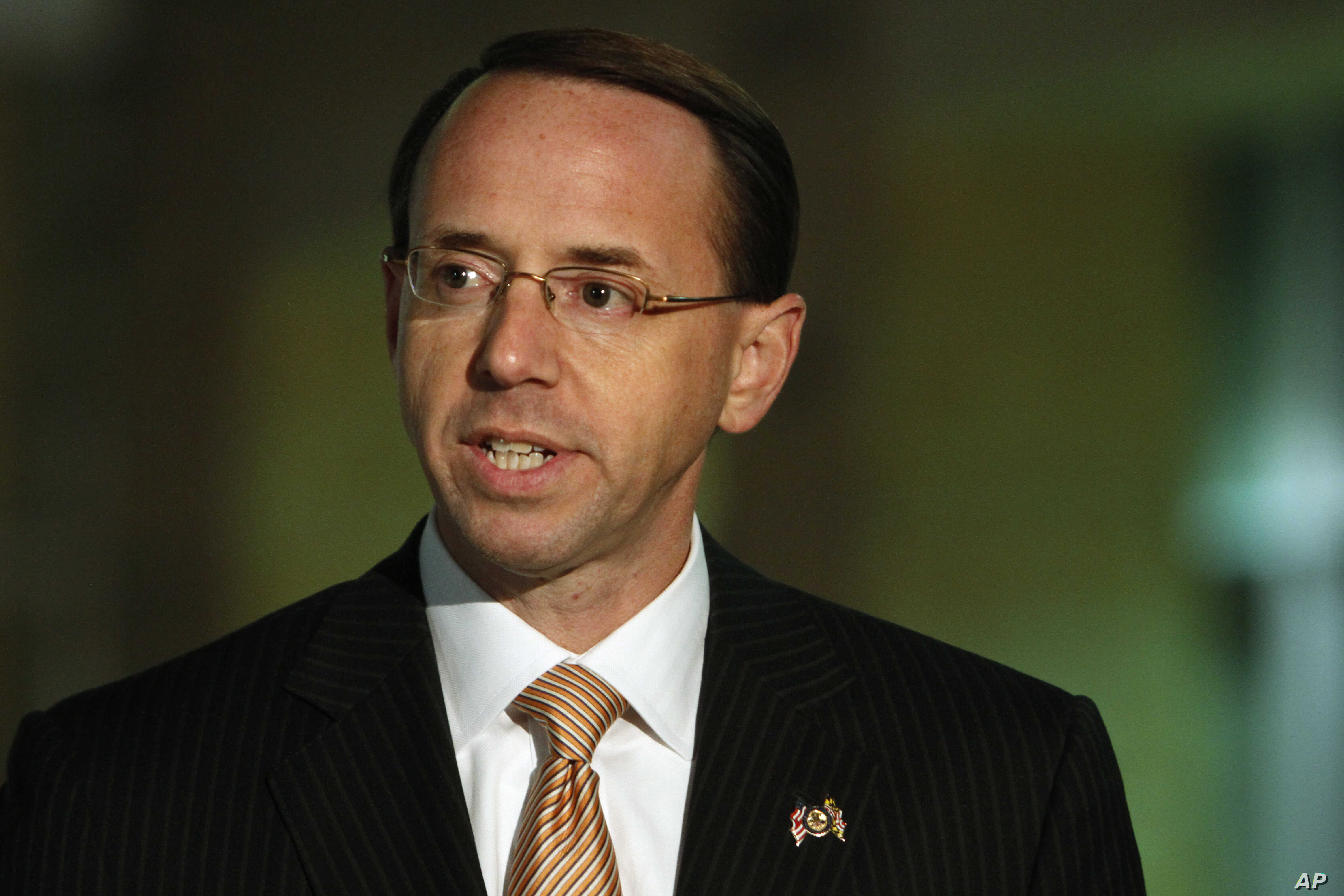 "FILE - U.S. Attorney Rod Rosenstein, pictured in Greenbelt, Md., in November 2010, says the Mohamad Elshinawy case ""demonstrates how terrorists exploit modern technology to inculcate sympathizers and build hidden networks."""