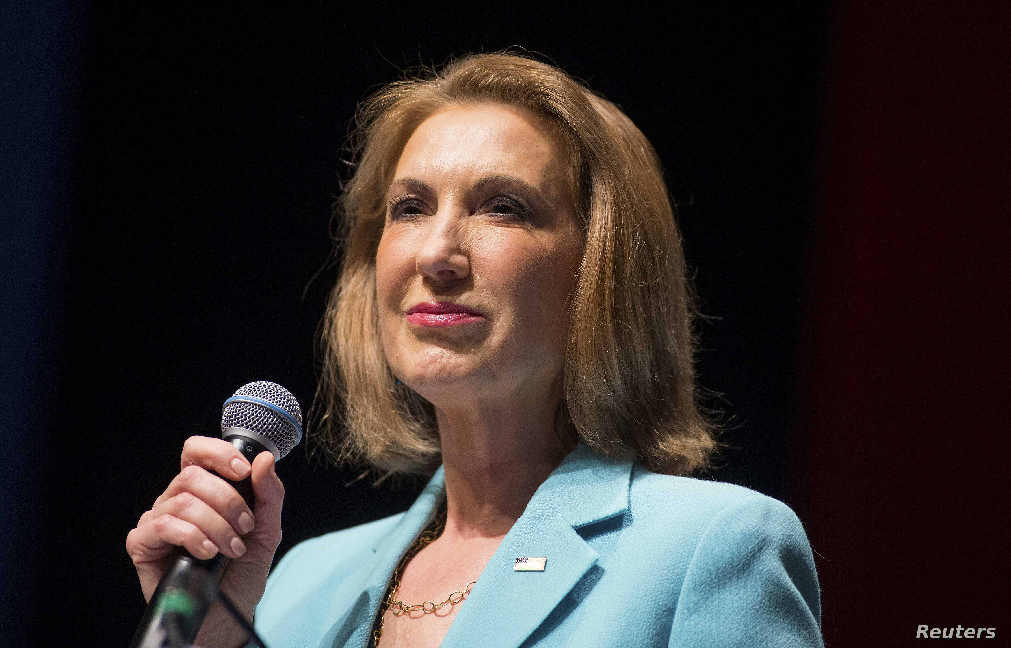 Former Hewlett-Packard Co Chief Executive and Republican U.S. presidential candidate Carly Fiorina speaks during the Freedom Summit in Greenville, South Carolina, May 9, 2015.