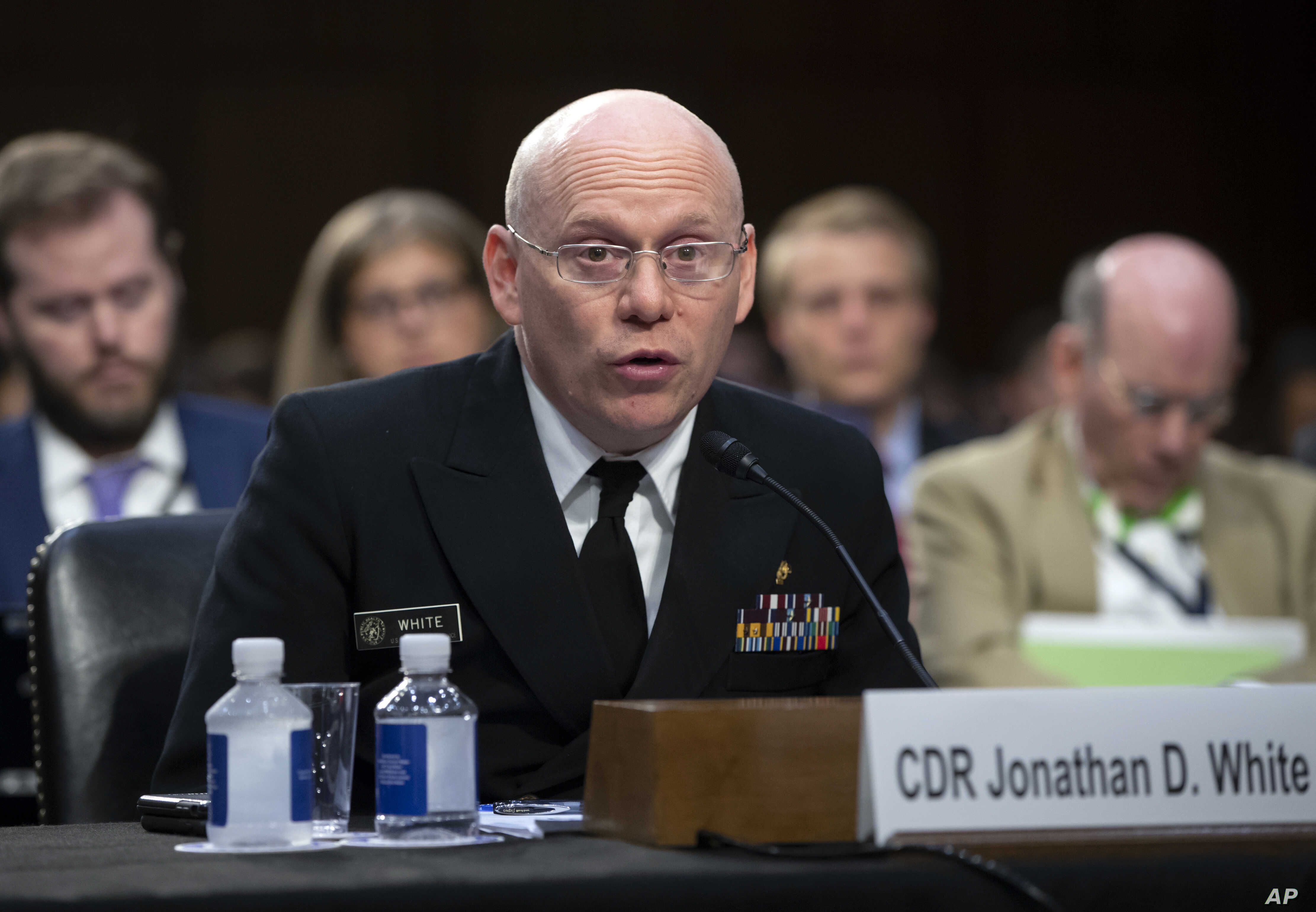 Federal Health Coordinating Official for the 2018 UAC Reunification Effort Cmdr. Jonathan White testifies as the Senate Judiciary Committee holds a hearing on the Trump administration's policies on immigration enforcement and family reunification eff...