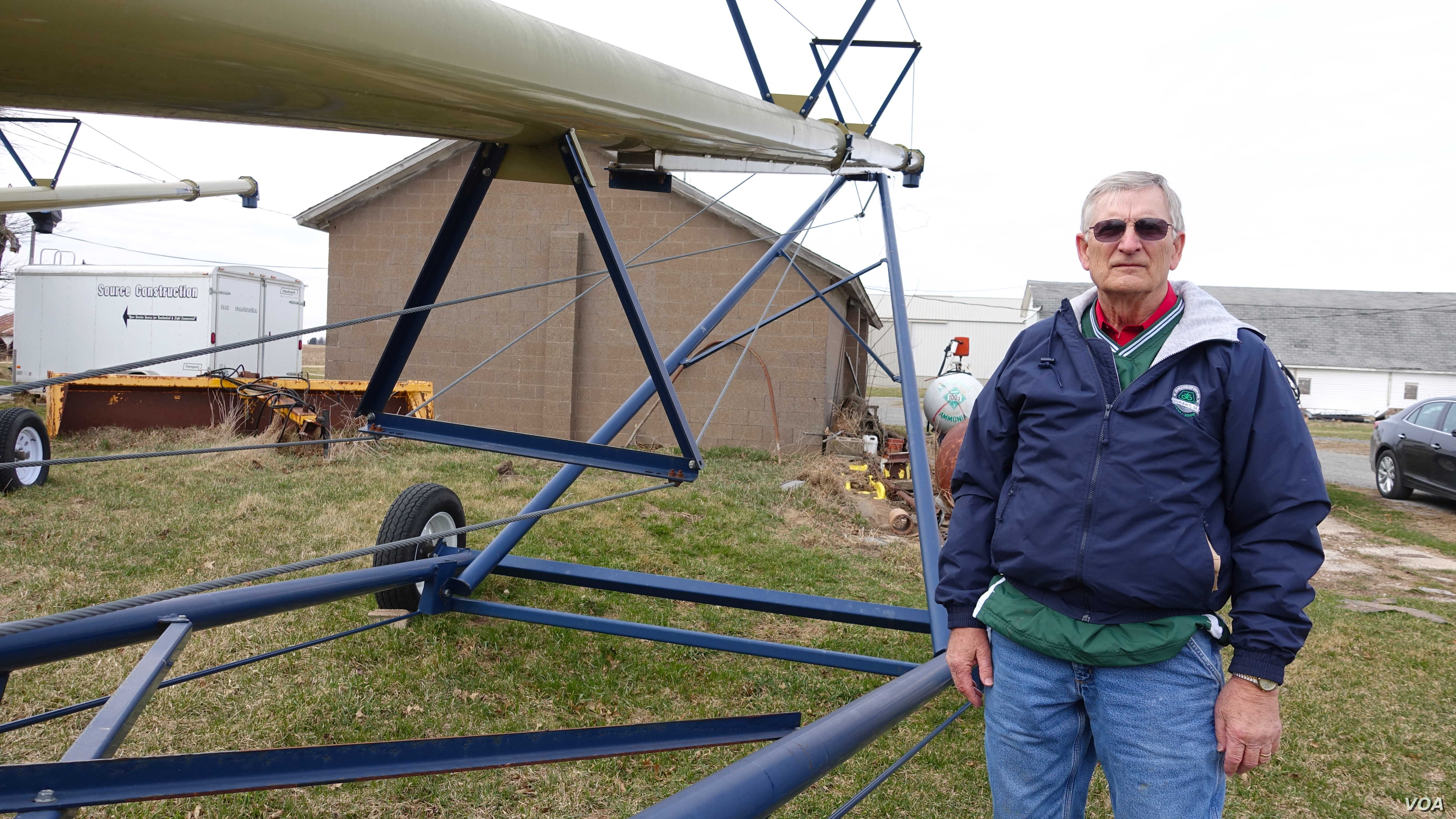 """Ron Gruenhagen, a farmer from Muscatine, Iowa, says U.S. farmers are very dependent on foreign markets. """"If we didn't have them we would be flooded with grain and soybeans and maybe we wouldn't know what to do with it,"""" he said."""