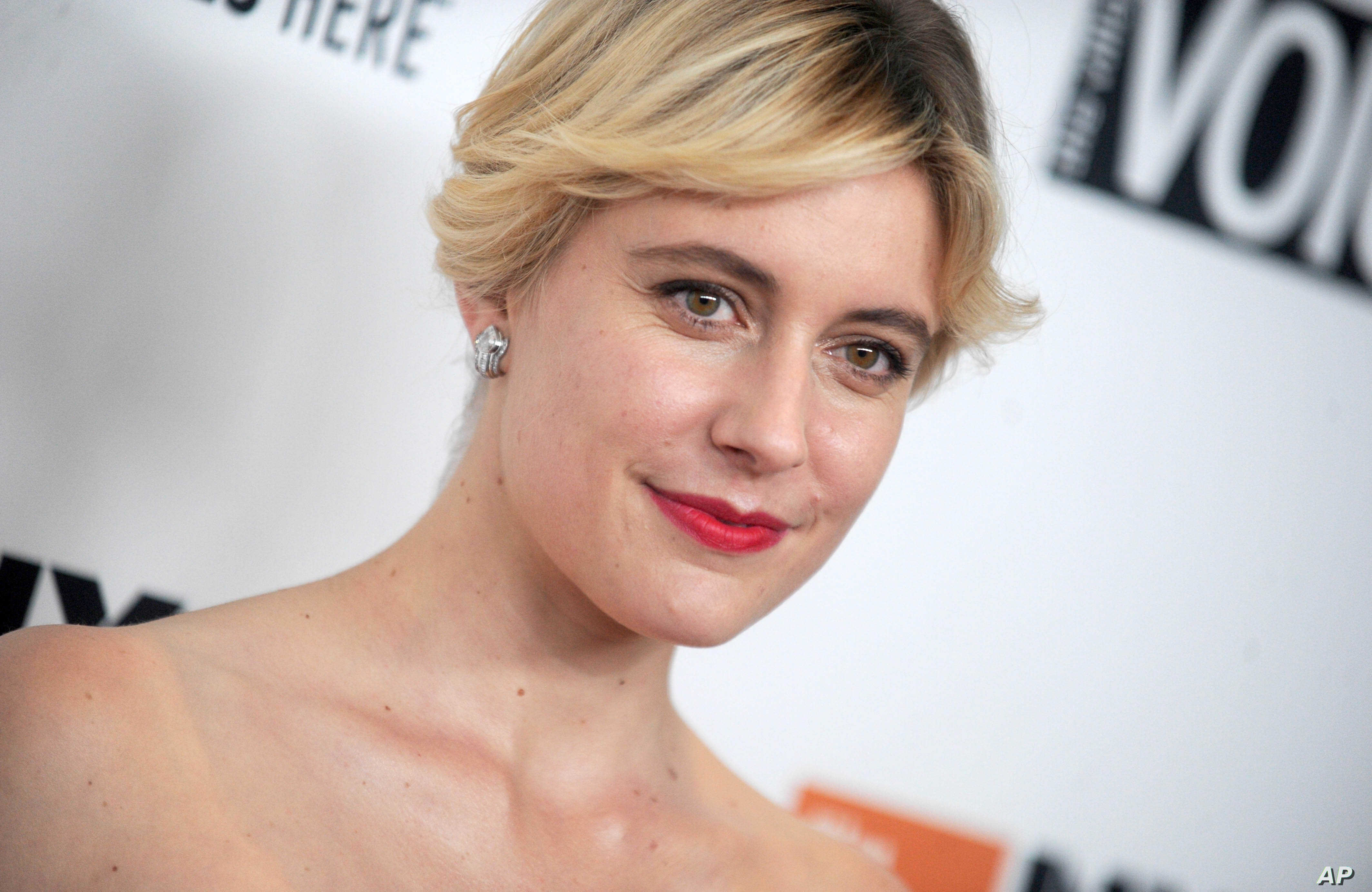 """FILE - Greta Gerwig, director of """"Lady Bird,"""" attends the 55th New York Film Festival in New York City."""