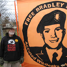 A veteran was among those supporting Bradley Manning.