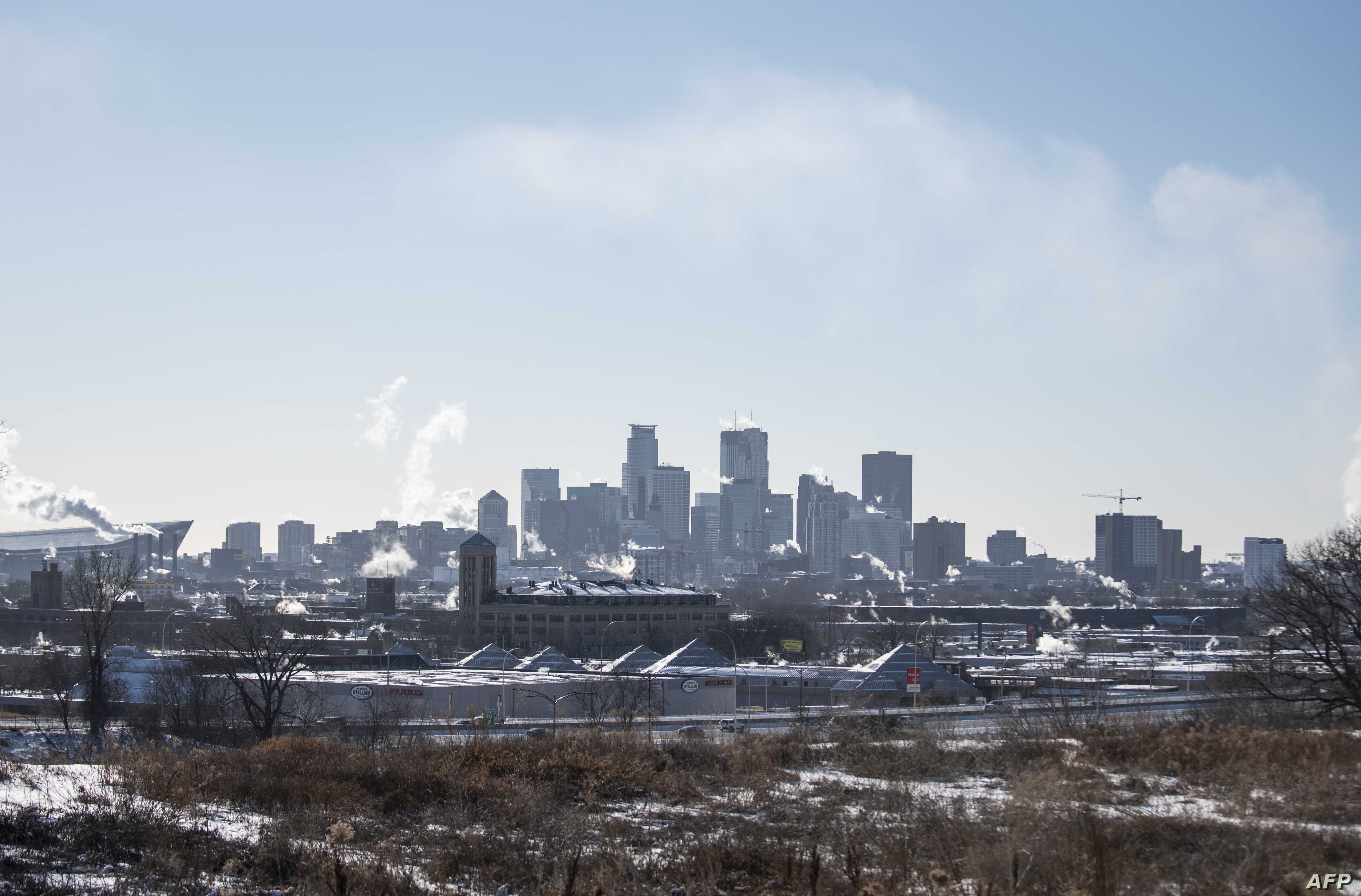 A view of the city skyline on Jan. 30, 2019 in Minneapolis, Minnesota.