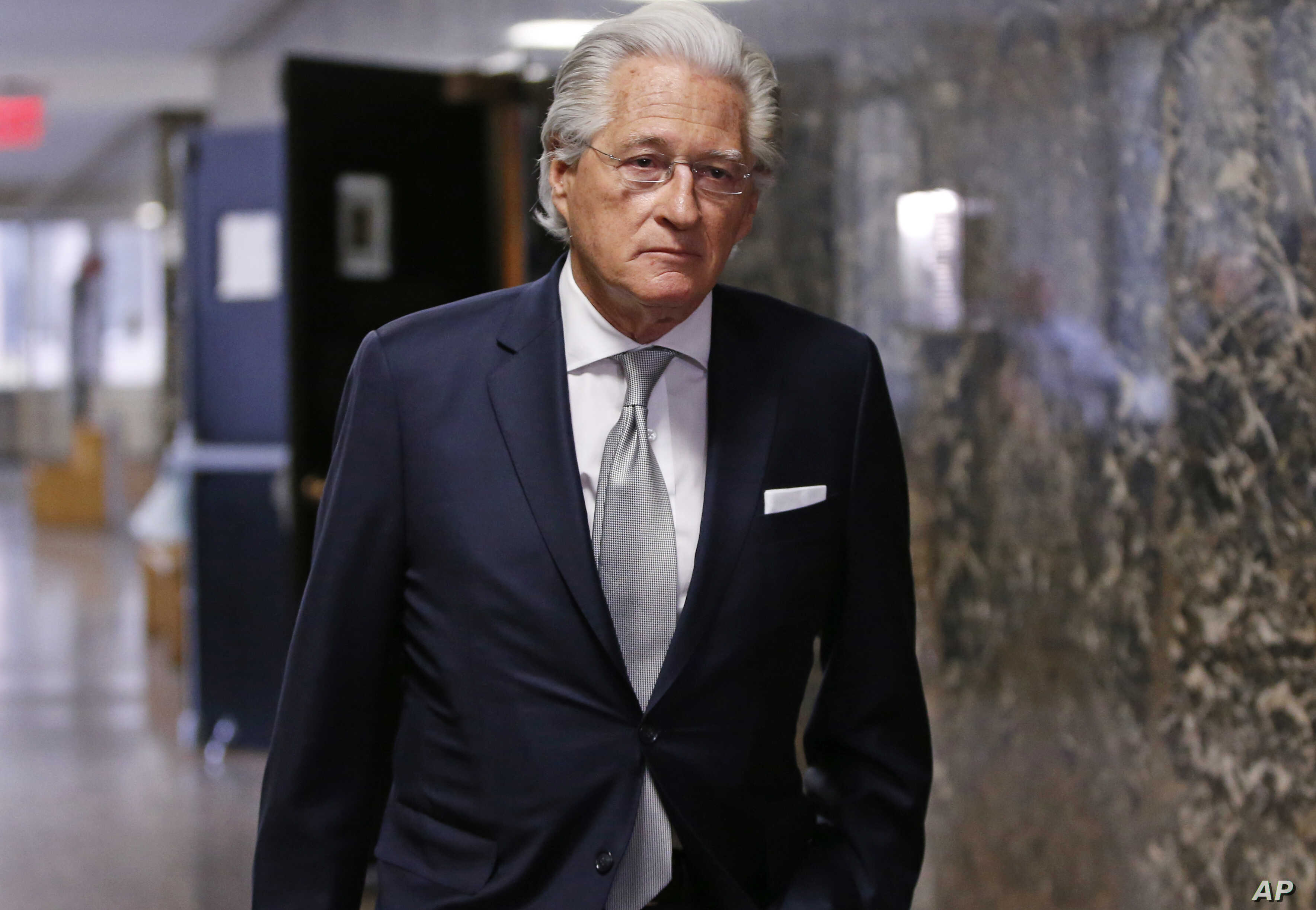 "Marc Kasowitz, an attorney for President Donald Trump, enters State Supreme Court in New York, Dec. 5, 2017. Kasowitz wrote a June 27, 2017, letter to Robert Mueller casting former FBI Director James Comey as ""Machiavellian."""