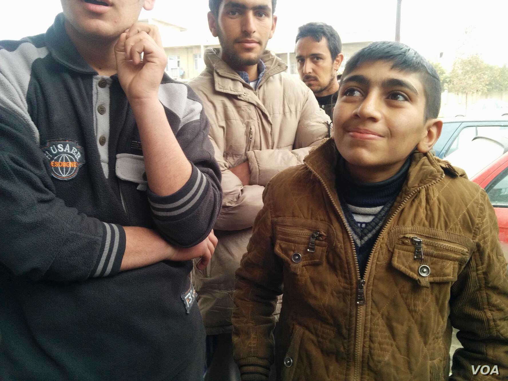 Ali, a 14-year-old breadwinner, told IS militants he couldn't join because of school, but in reality he had witnessed brutal executions on Jan. 27, 2017 in Mosul Iraq. (H.Murdock/VOA)