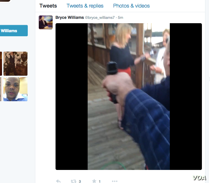 Alleged screen grab of shooting.