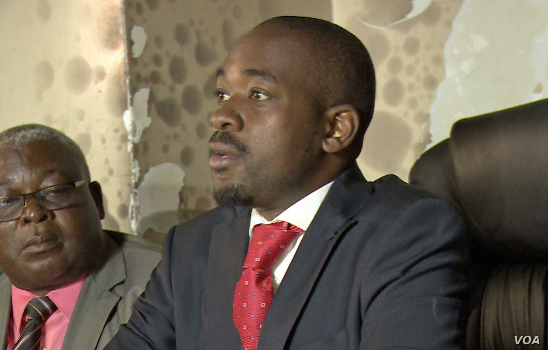 Nelson Chamisa, leader of Opposition Movement for Democratic Change told reporters, Jan. 29, 2019, in Harare that President Emmerson Mnangagwa's administration had not taken reports of human rights abuses by the security forces seriously.