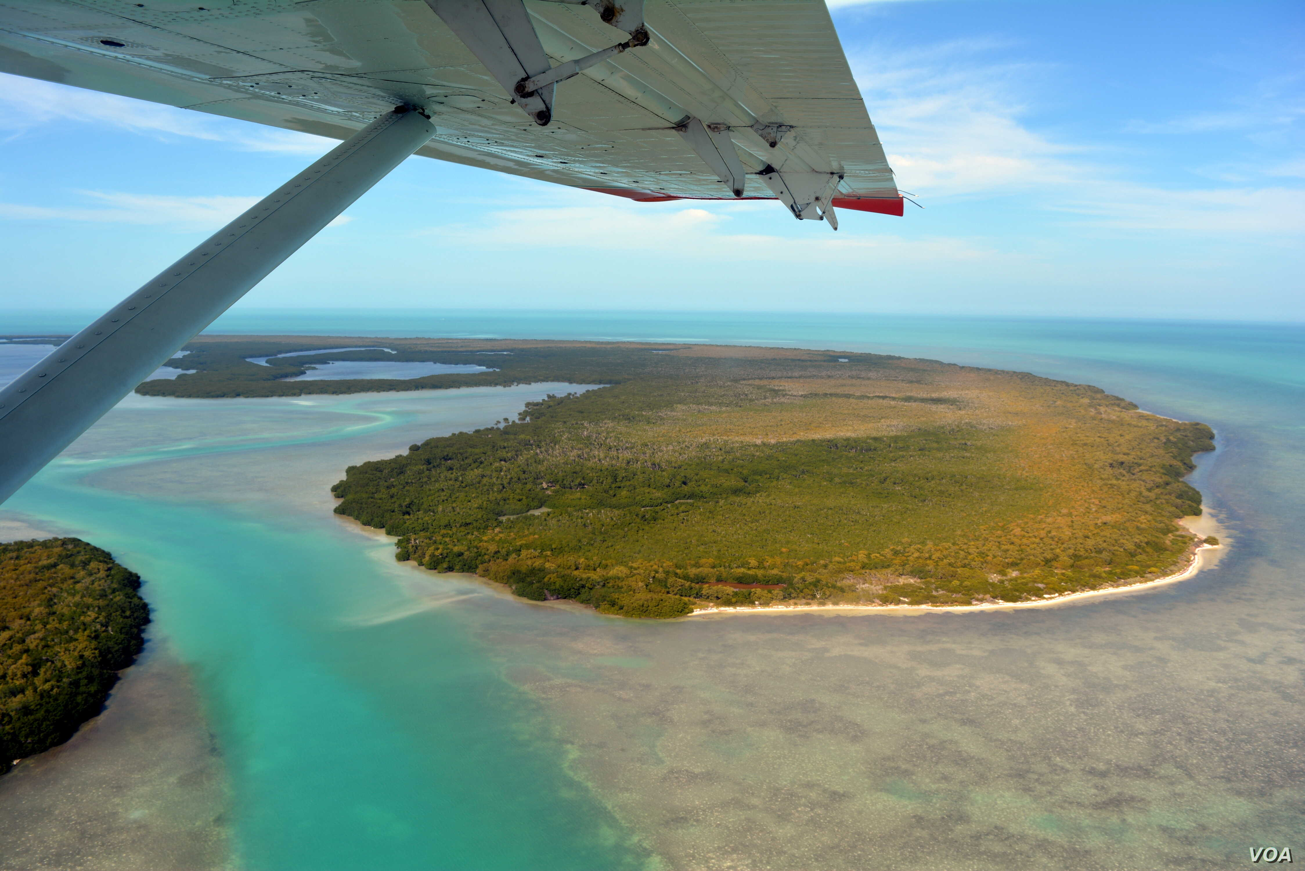 Mikah Meyer enjoyed the beautiful views from the sea plane he was flying in on his way to the Dry Tortugas islands in the Gulf of Mexico.