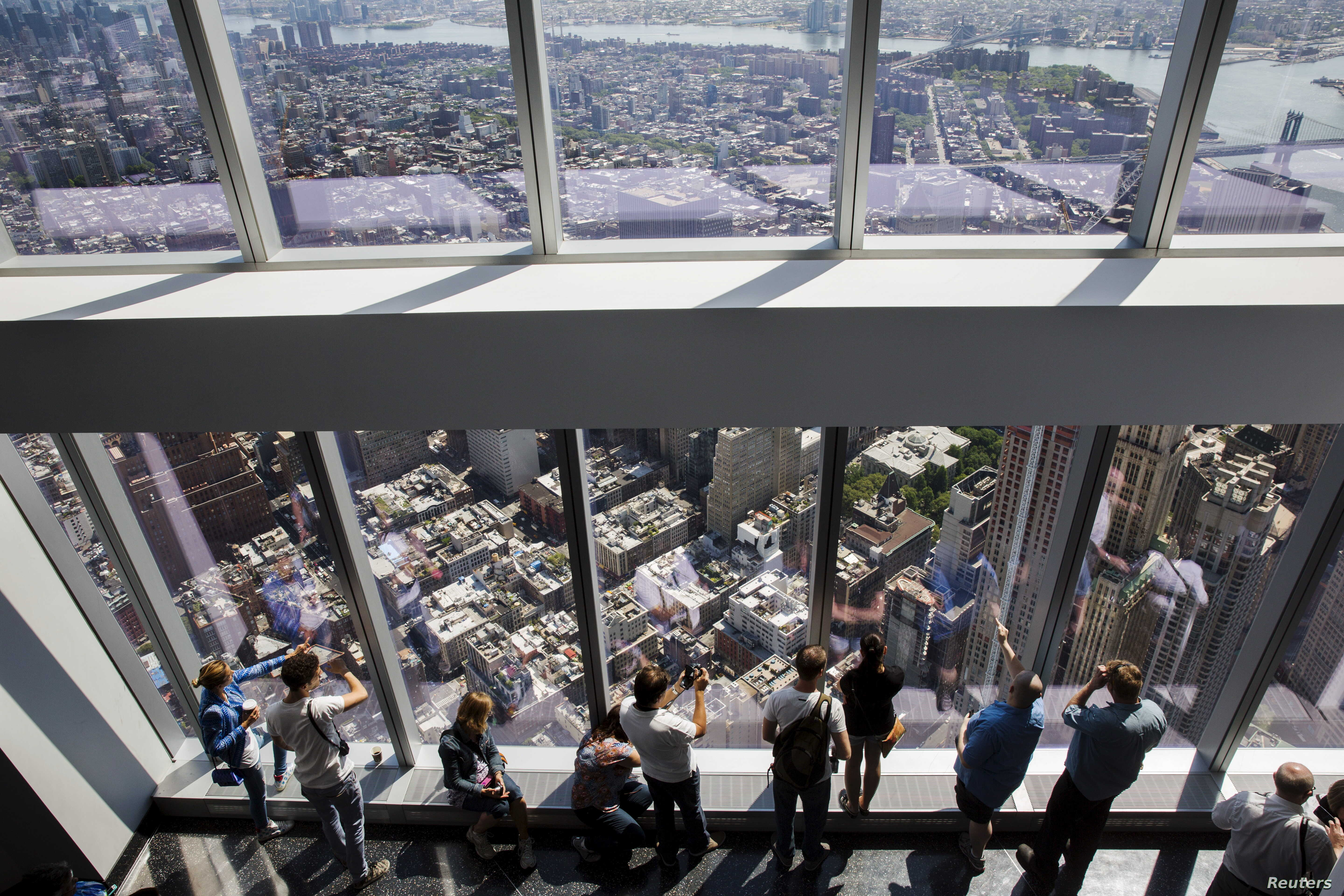 Visitors to the newly opened One World Observatory in New York, May 29, 2015.