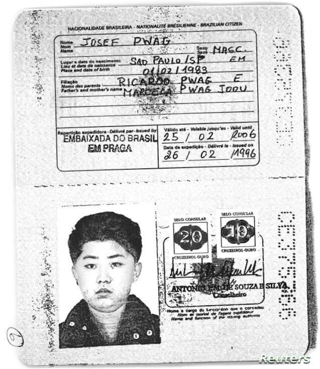 A scan obtained by Reuters shows an authentic Brazilian passport issued to North Korea's leader Kim Jong-un. (Handout via Reuters)