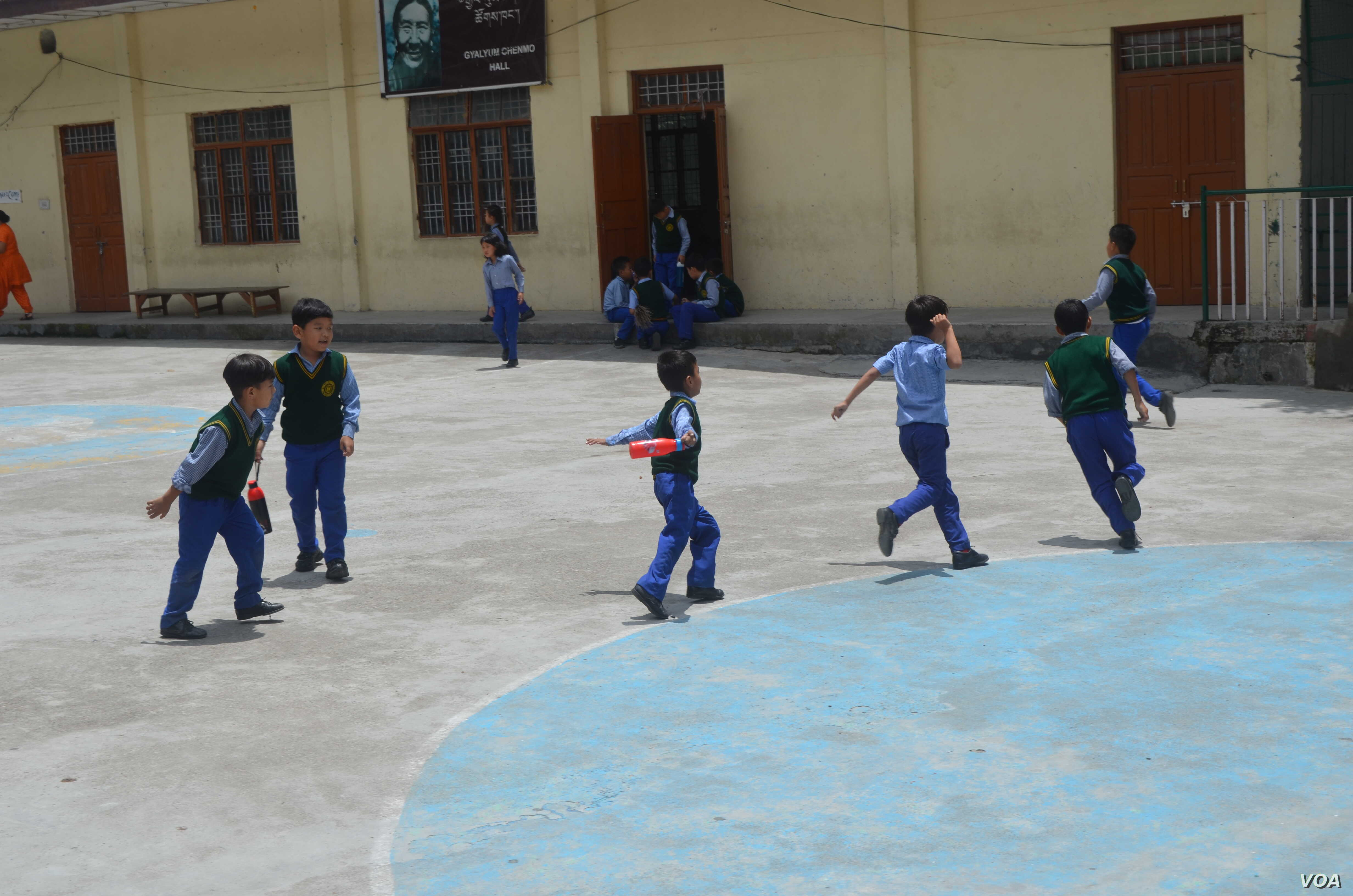 There are fewer children in Tibetan schools in Dharamshala as the numbers coming from Tibet fall.