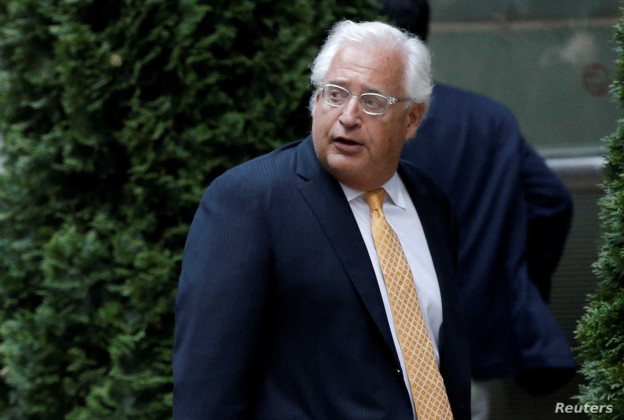 FILE - Attorney David Friedman arrives at a private fundraiser for then-Republican presidential candidate Donald Trump in the Manhattan borough of New York City, June 21, 2016. Friedman is U.S. President Donald Trump's designated Ambassador to Israel...