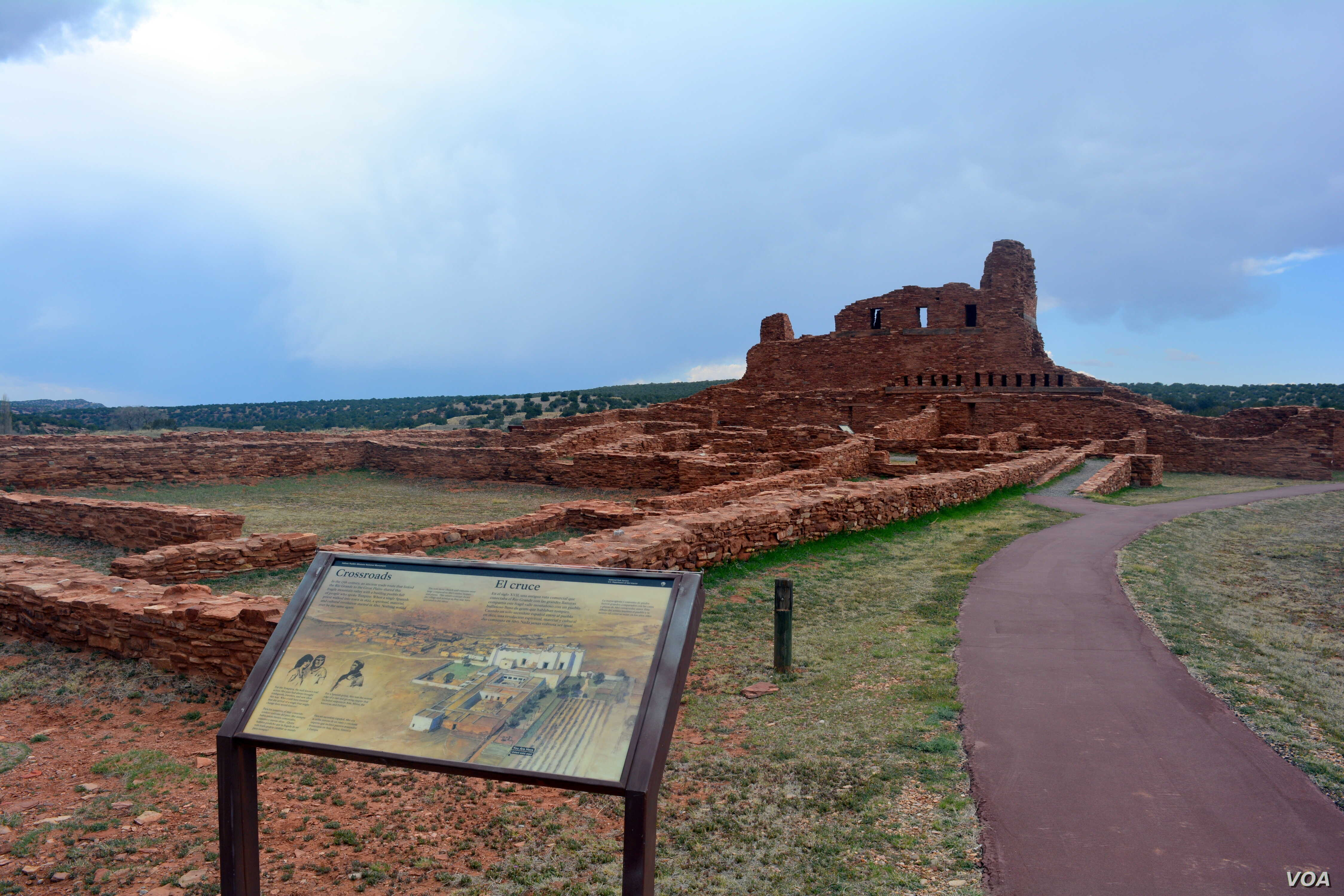 The now abandoned sites at Salinas Pueblo Missions National Monument in New Mexico stand as reminders of the Spanish and Pueblo People's early encounters.