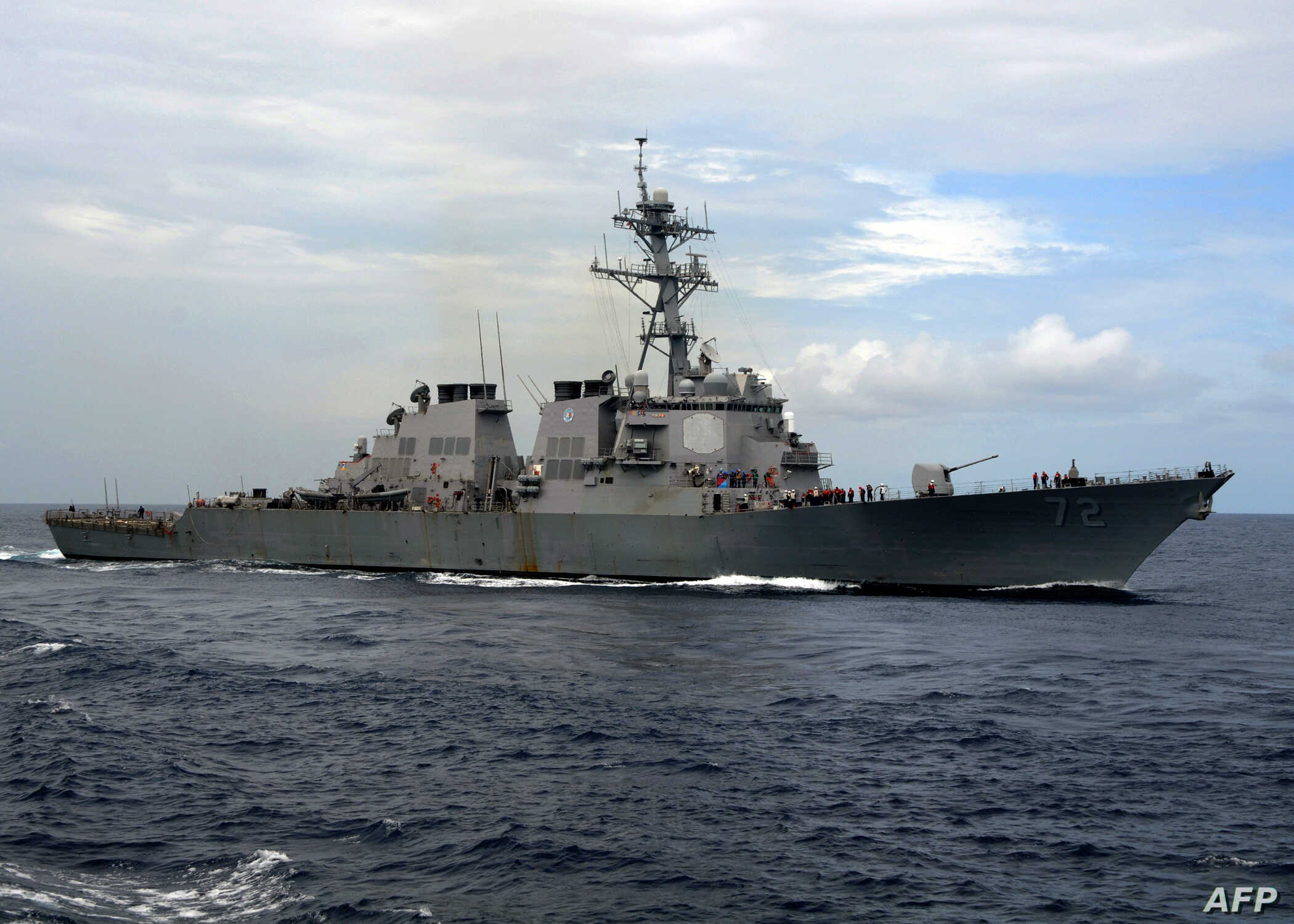 US Navy Fires Warning Shots at Iranian Boats Near Persian