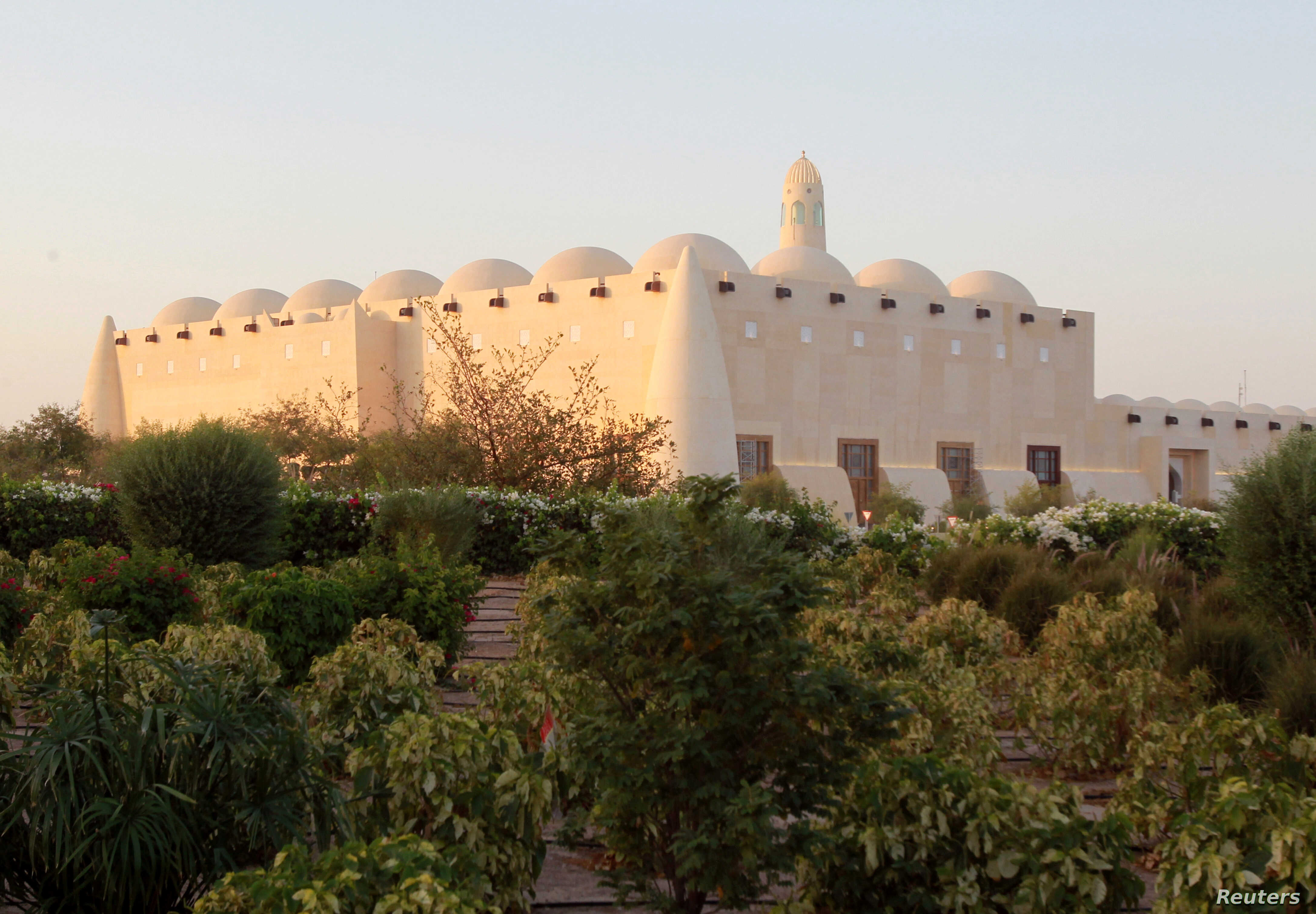 FILE - A view shows Imam Muhammad ibn Abd al-Wahhab Mosque in Doha, Qatar, June 9, 2017.