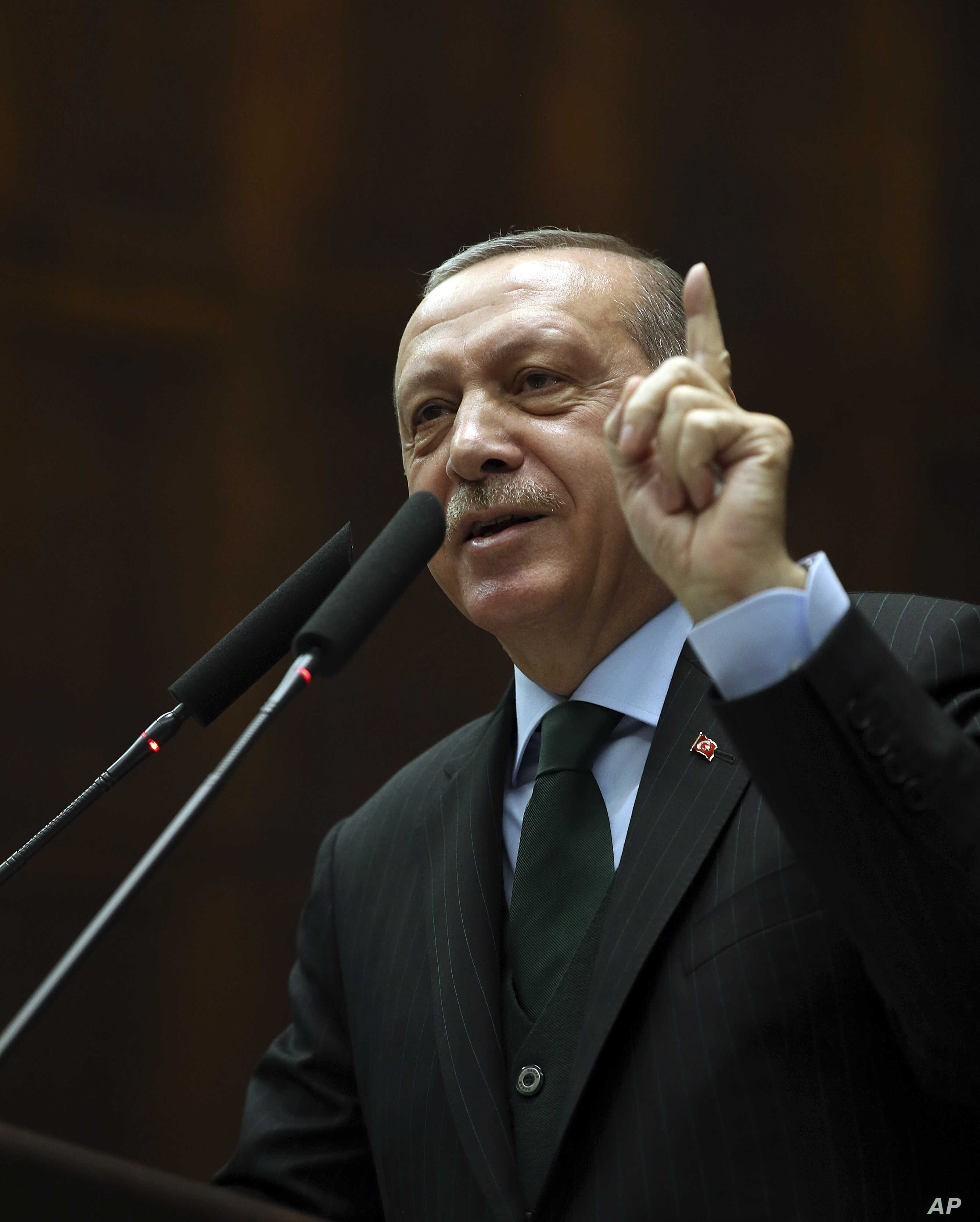 Turkey's President Recep Tayyip Erdogan says U.S. recognition of Jerusalem as Israel's capital is a 'red line' for Muslims and also said such a step would lead Turkey to cut off all diplomatic ties with Israel.