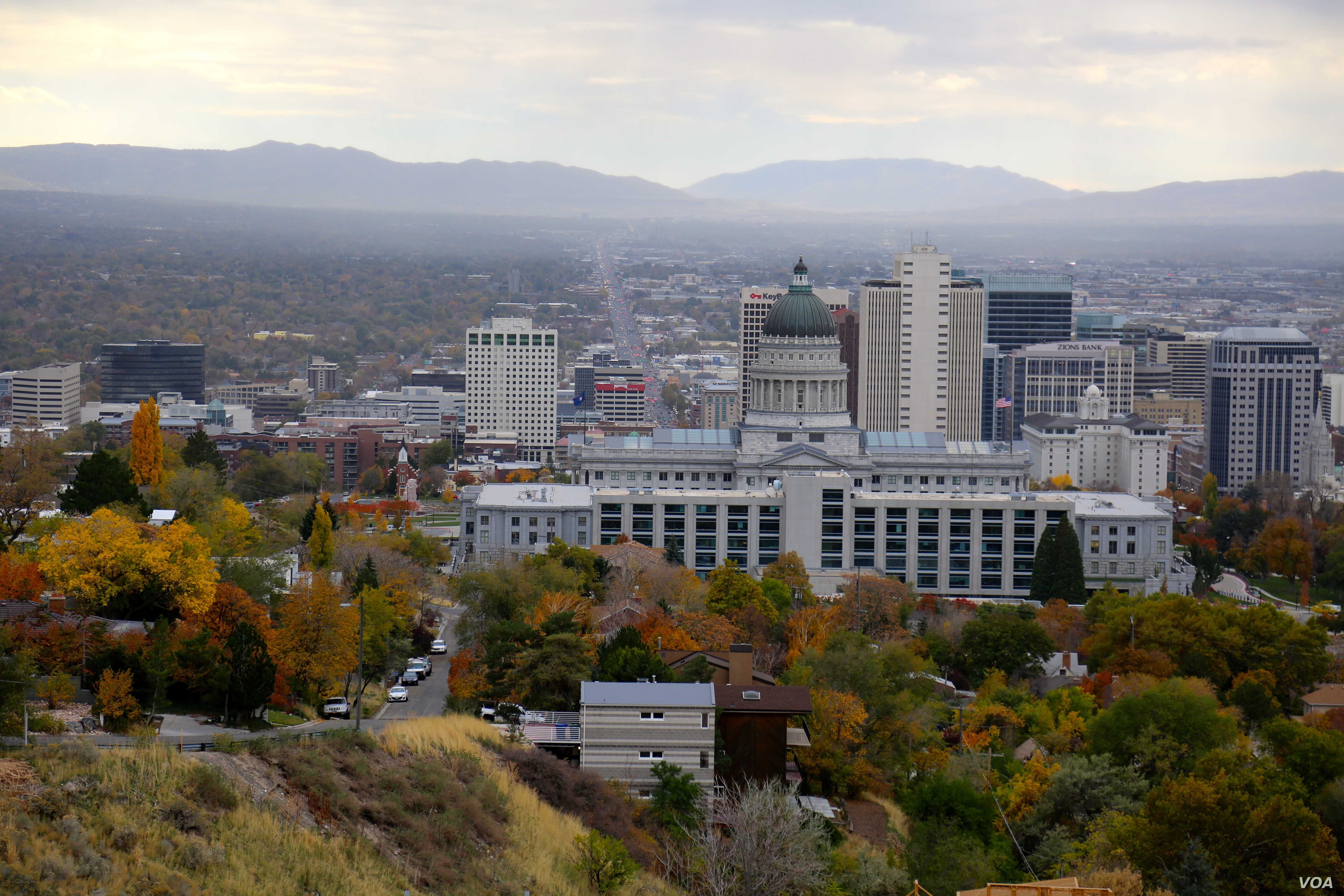 Utah's state capitol overlooks the rest of Salt Lake City. About 40 percent of the city's population are members of the Church of Jesus Christ of Latter-day Saints. The greater Salt Lake City metro area has about 1.2 million people. Oct 28, 2016. (...