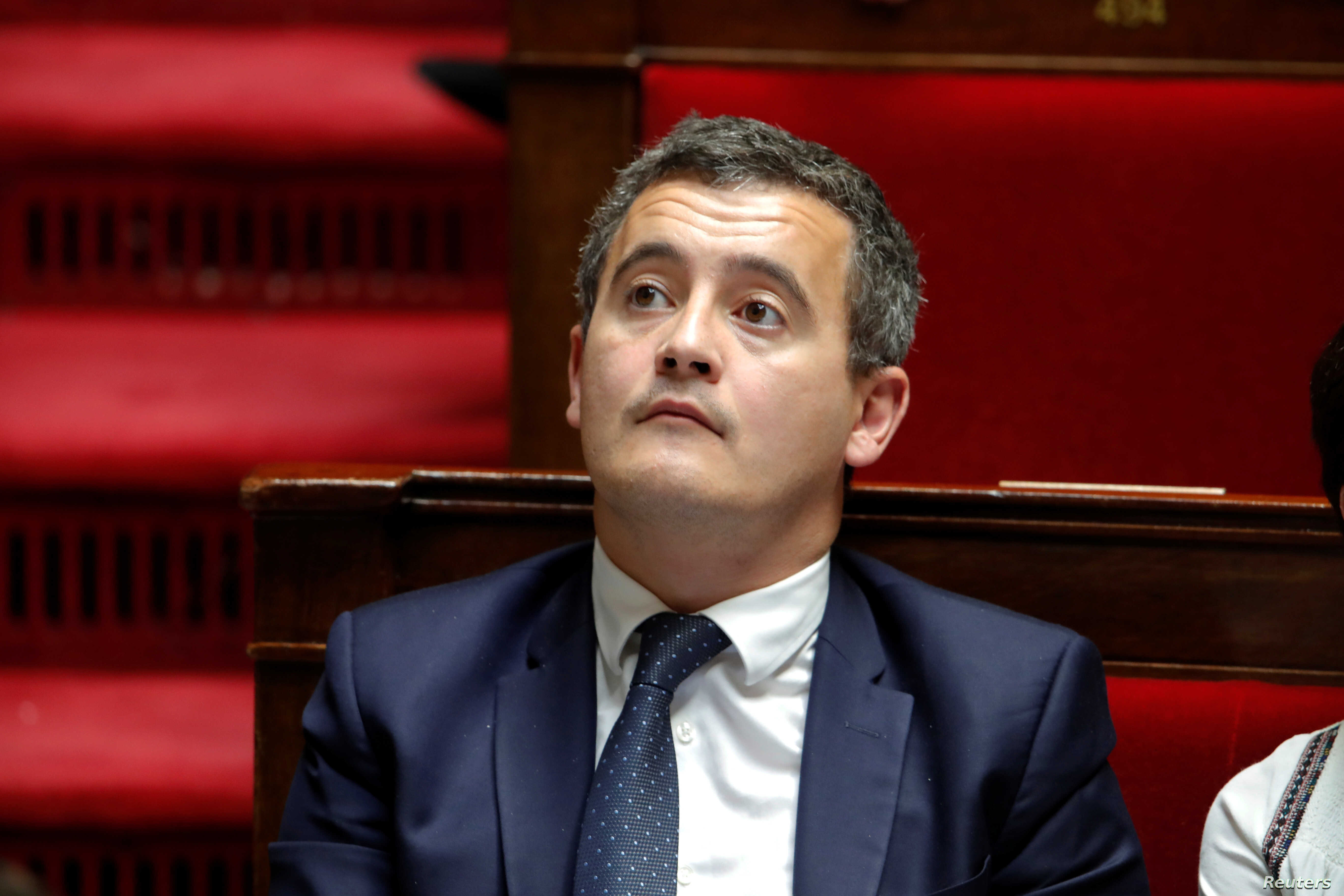 Gerald Darmanin, French Budget Minister, attends the questions to the government session at the National Assembly in Paris, , Oct.  23, 2018