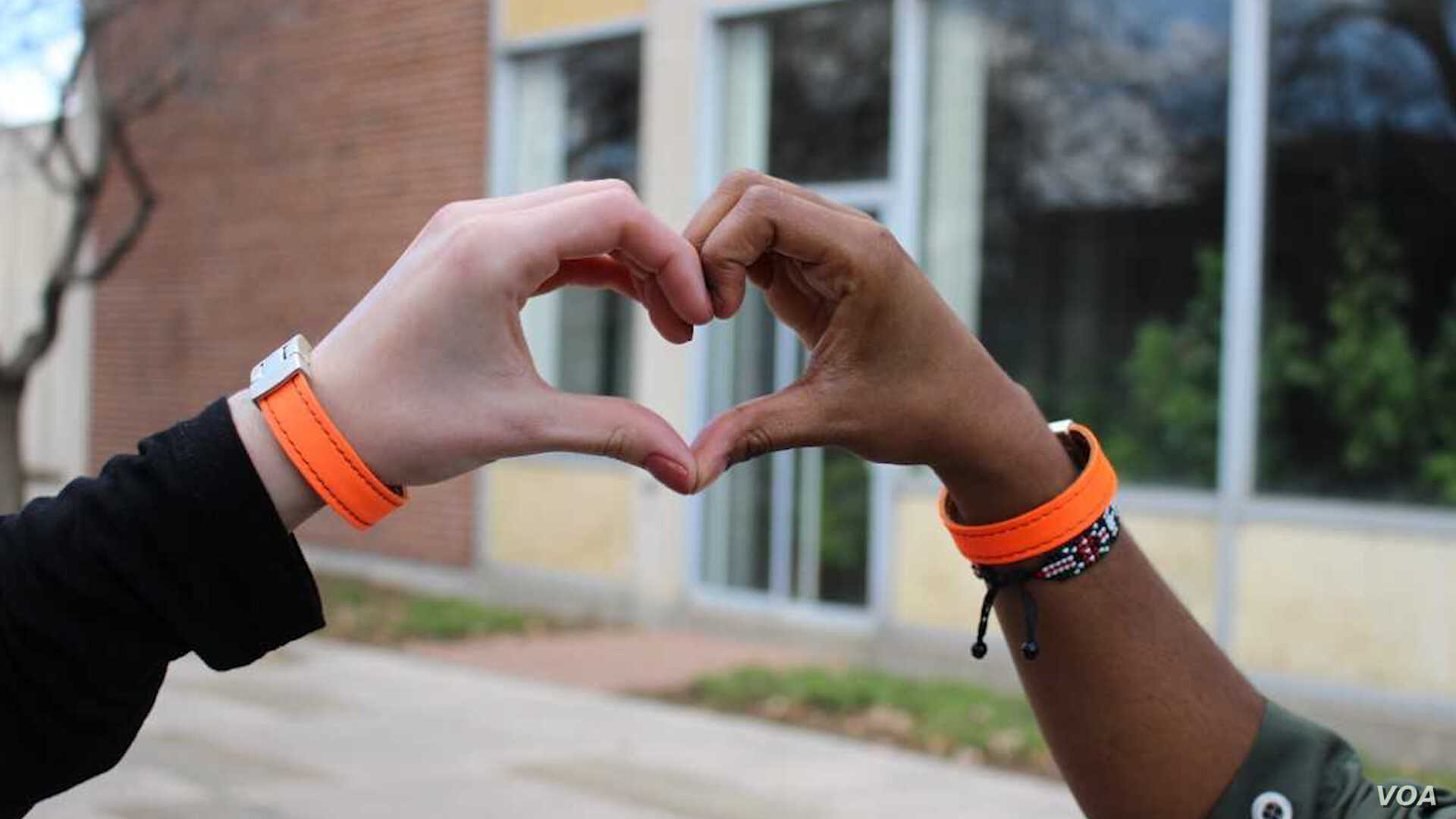 """Mohamed Malim calls the bracelets he designed embracelets because he says people need to """"embrace"""" refugees and the contributions they make."""