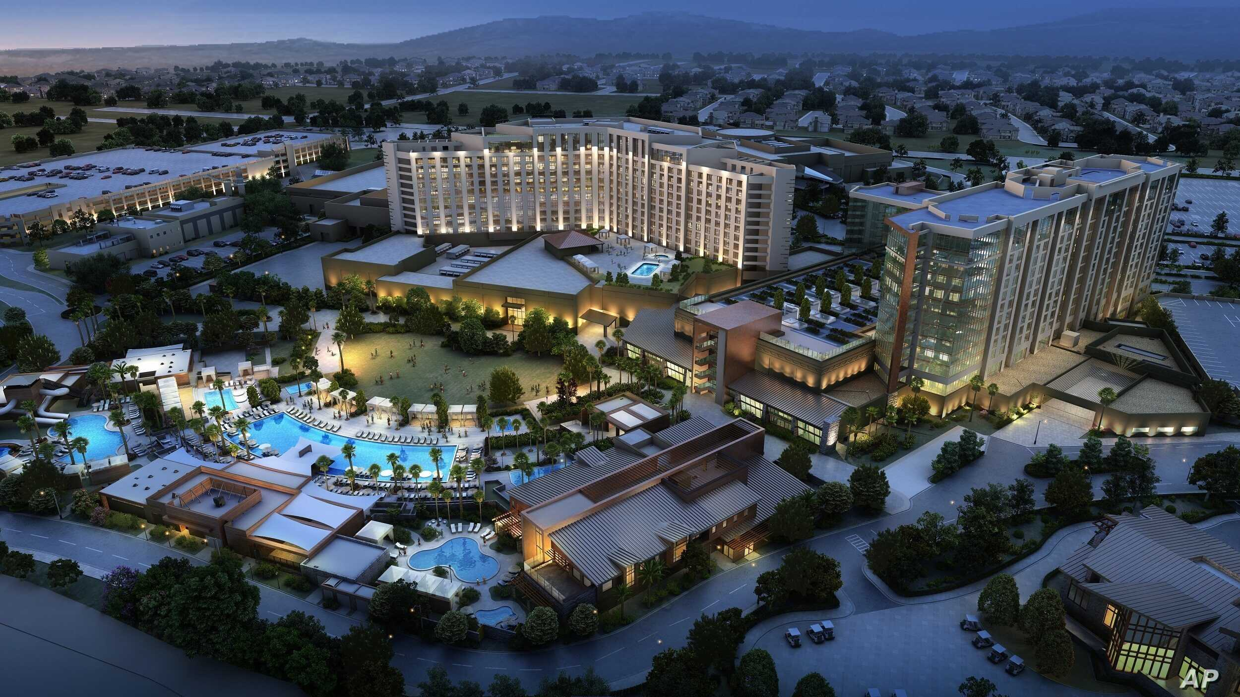 Pechanga Resort & Casino Resort Expansion Rendering. Project broke ground Dec. 16, 2015 and expected to be complete in 24 months. Pechanga is already the largest resort/casino in Calif. The expansion doubles the size of its resort offerings.