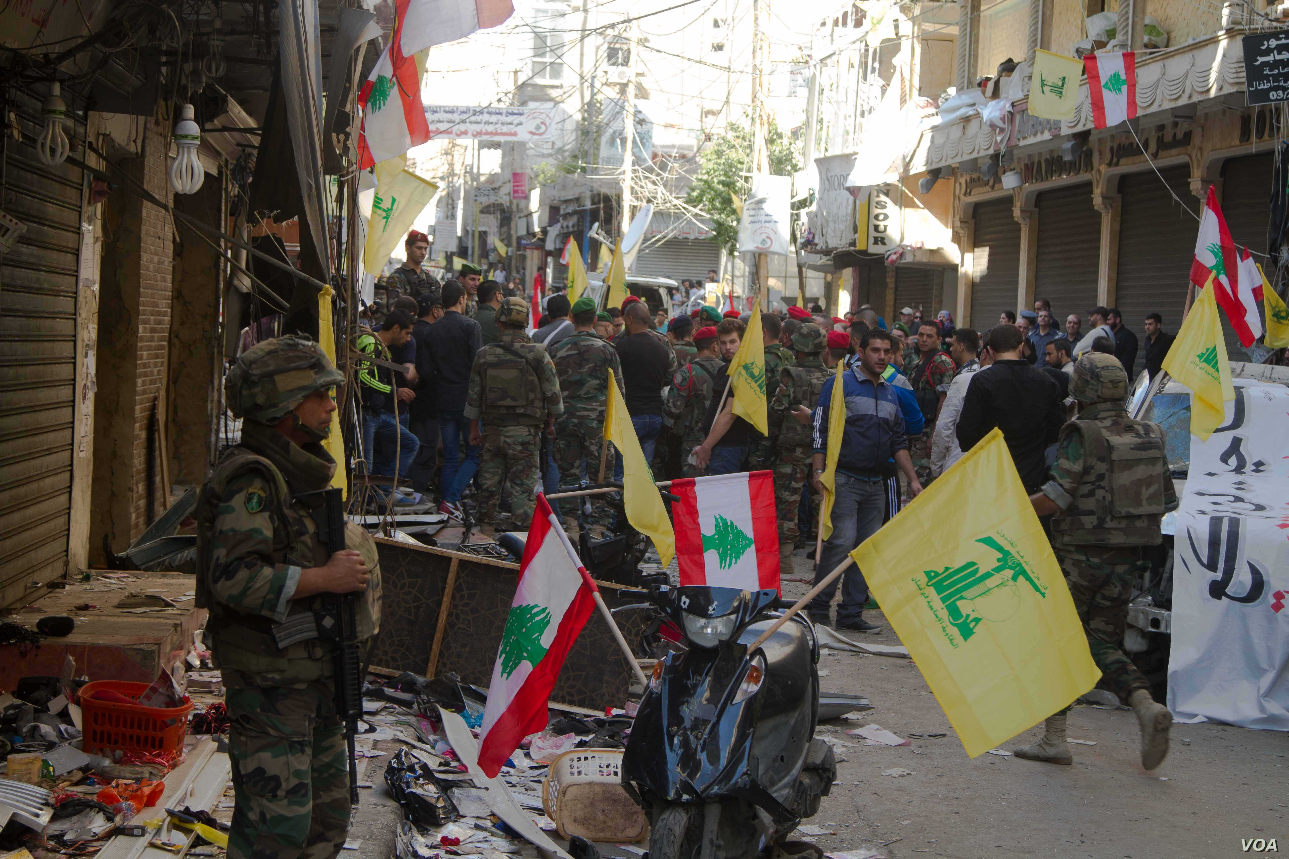 The bombs went off in Burj al-Barajneh, a predominantly Shi'ite suburb of southern Beirut.