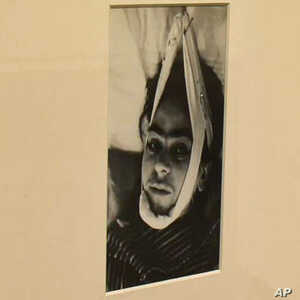 An image of Frida Kahlo in the hospital after a bus accident which left her with lingering health problems.