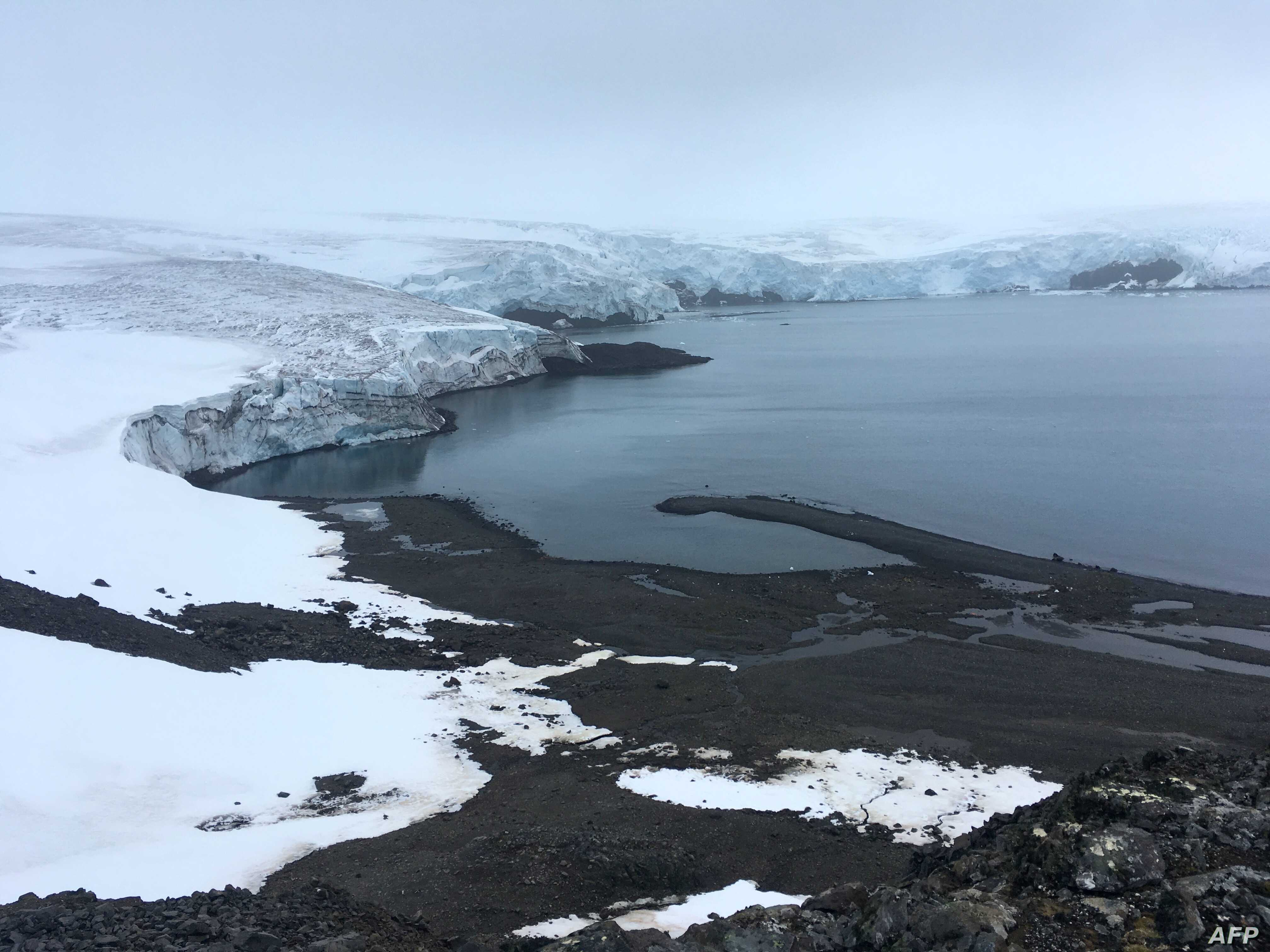 The Collins glacier on King George Island has retreated in the last 10 years and shows signs of fragility, in the Antarctic, Feb. 2, 2018.