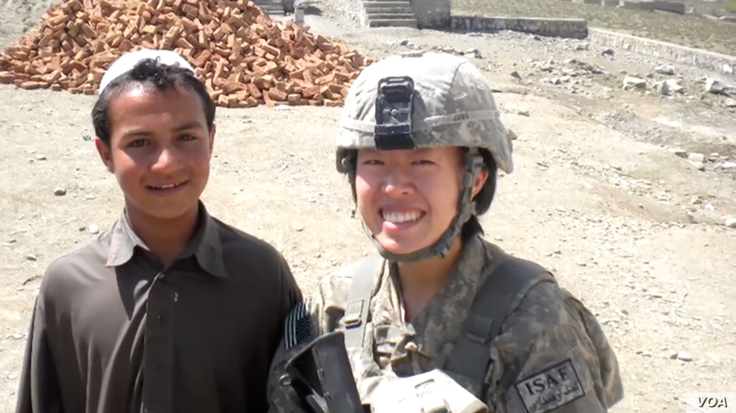 Kimberly Jung, Rumi Spice co-founder, pictured here while serving in Afghanistan.